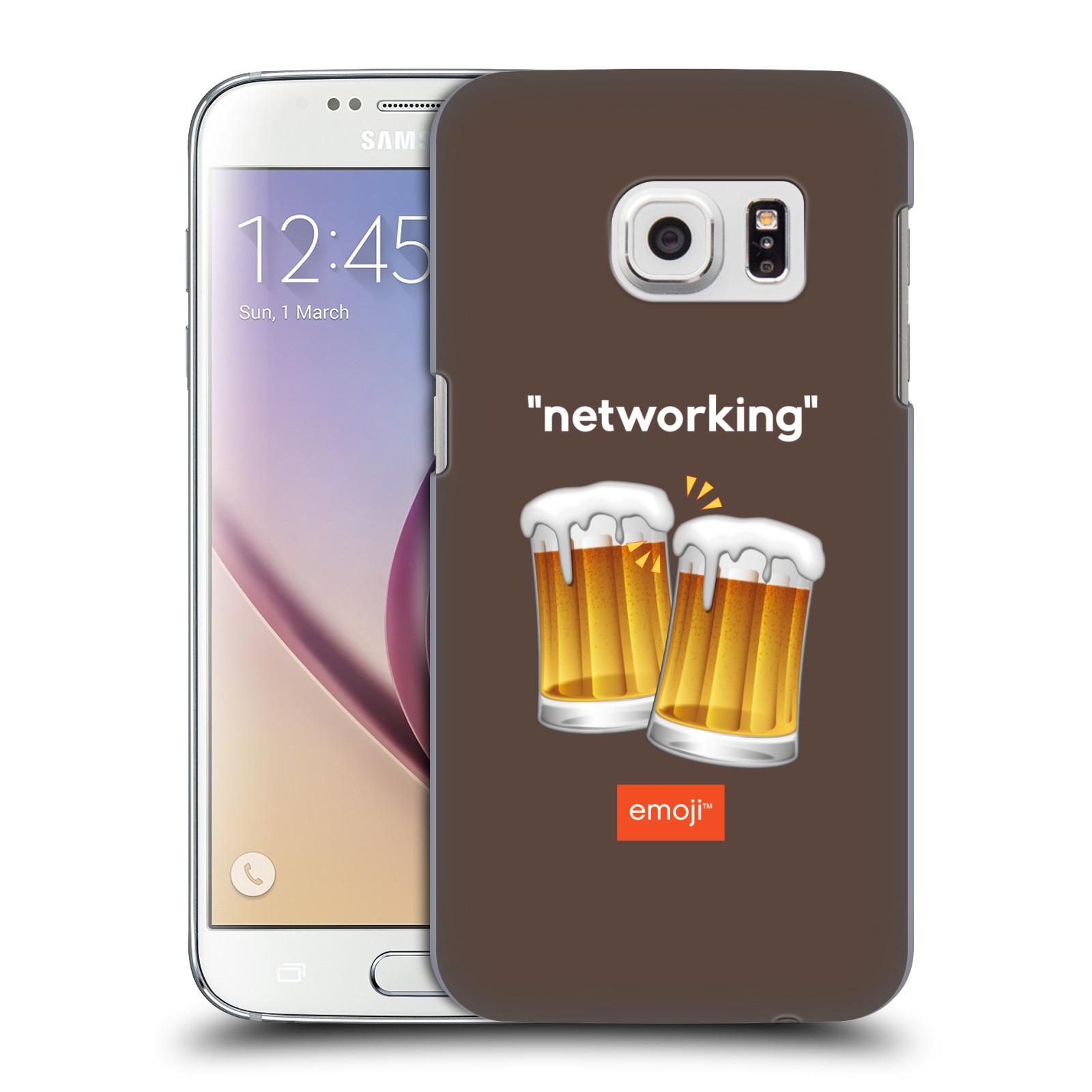 Plastové pouzdro na mobil Samsung Galaxy S7 HEAD CASE EMOJI - Pivní networking (Kryt či obal s oficiálním motivem EMOJI na mobilní telefon Samsung Galaxy S7 SM-G930F)