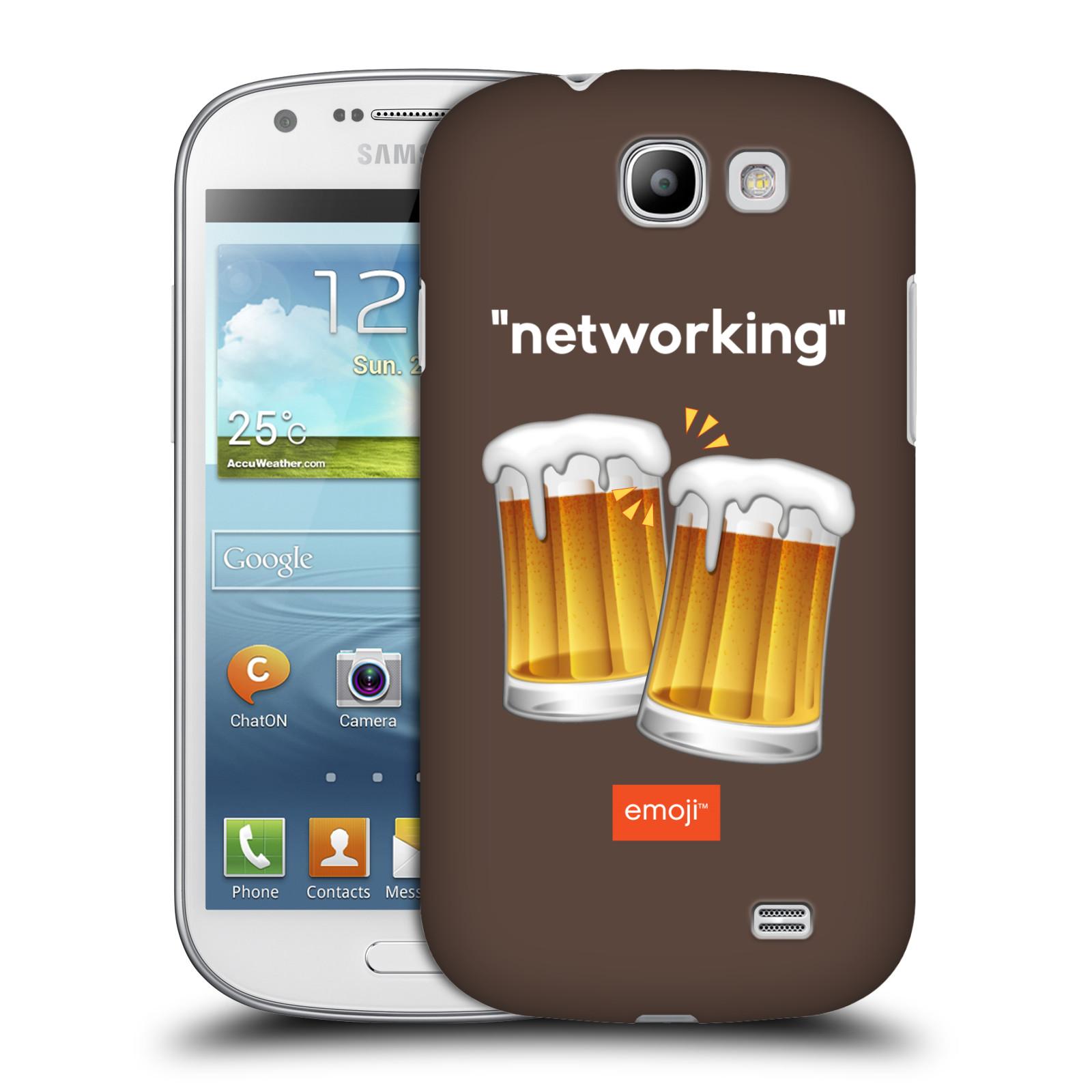Plastové pouzdro na mobil Samsung Galaxy Express HEAD CASE EMOJI - Pivní networking (Kryt či obal s oficiálním motivem EMOJI na mobilní telefon Samsung Galaxy Express GT-i8730)