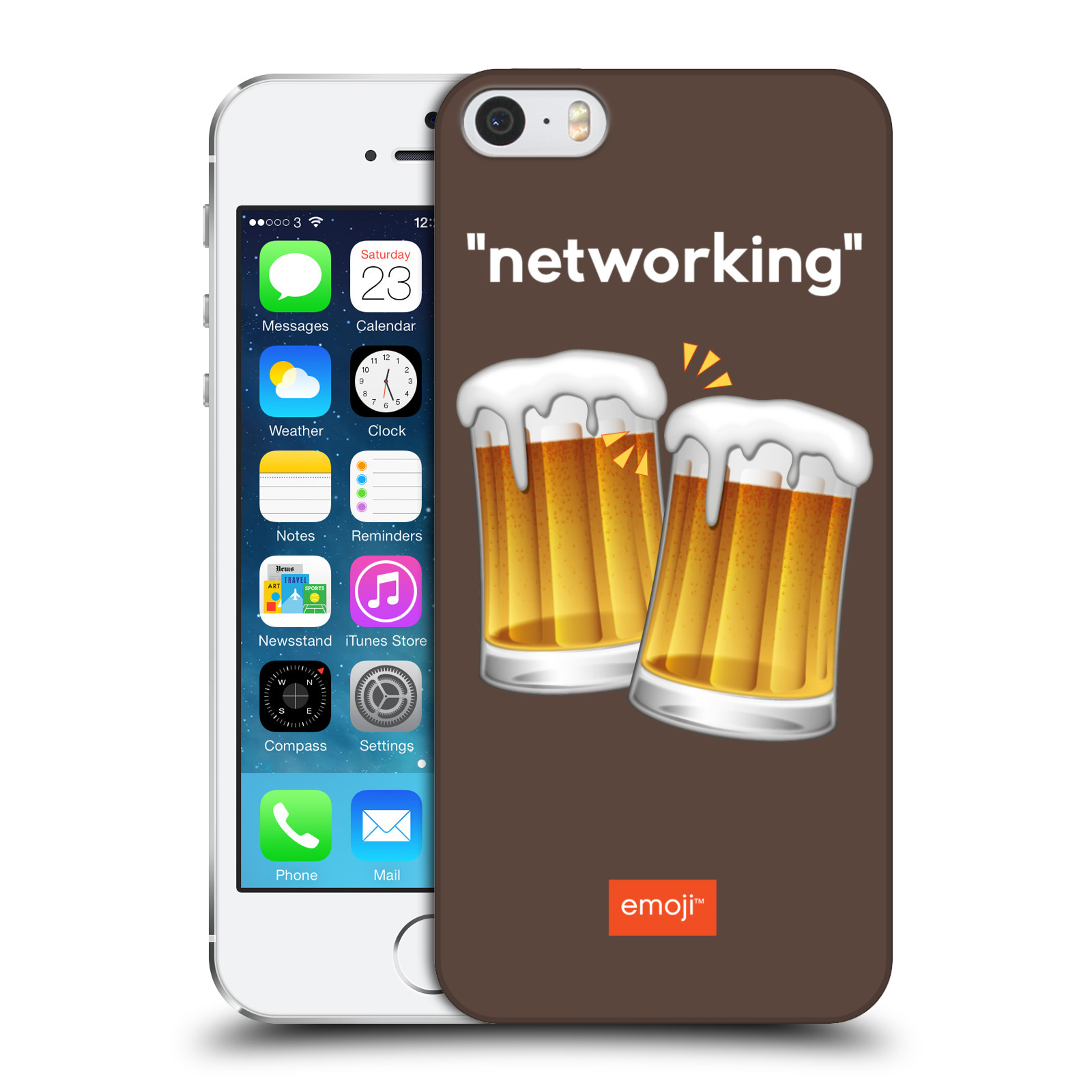 Plastové pouzdro na mobil Apple iPhone 5 a 5S HEAD CASE EMOJI - Pivní networking