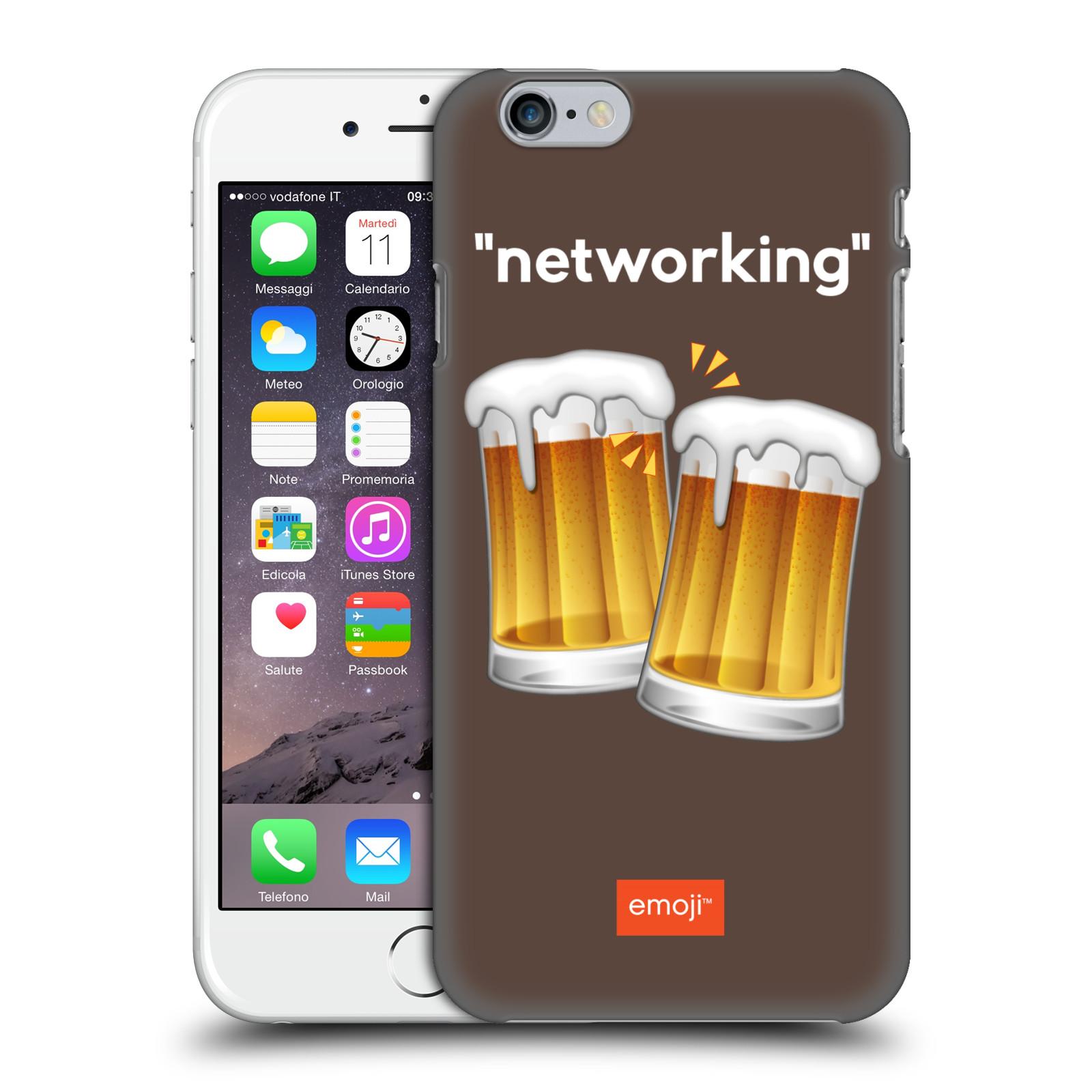 Plastové pouzdro na mobil Apple iPhone 6 HEAD CASE EMOJI - Pivní networking