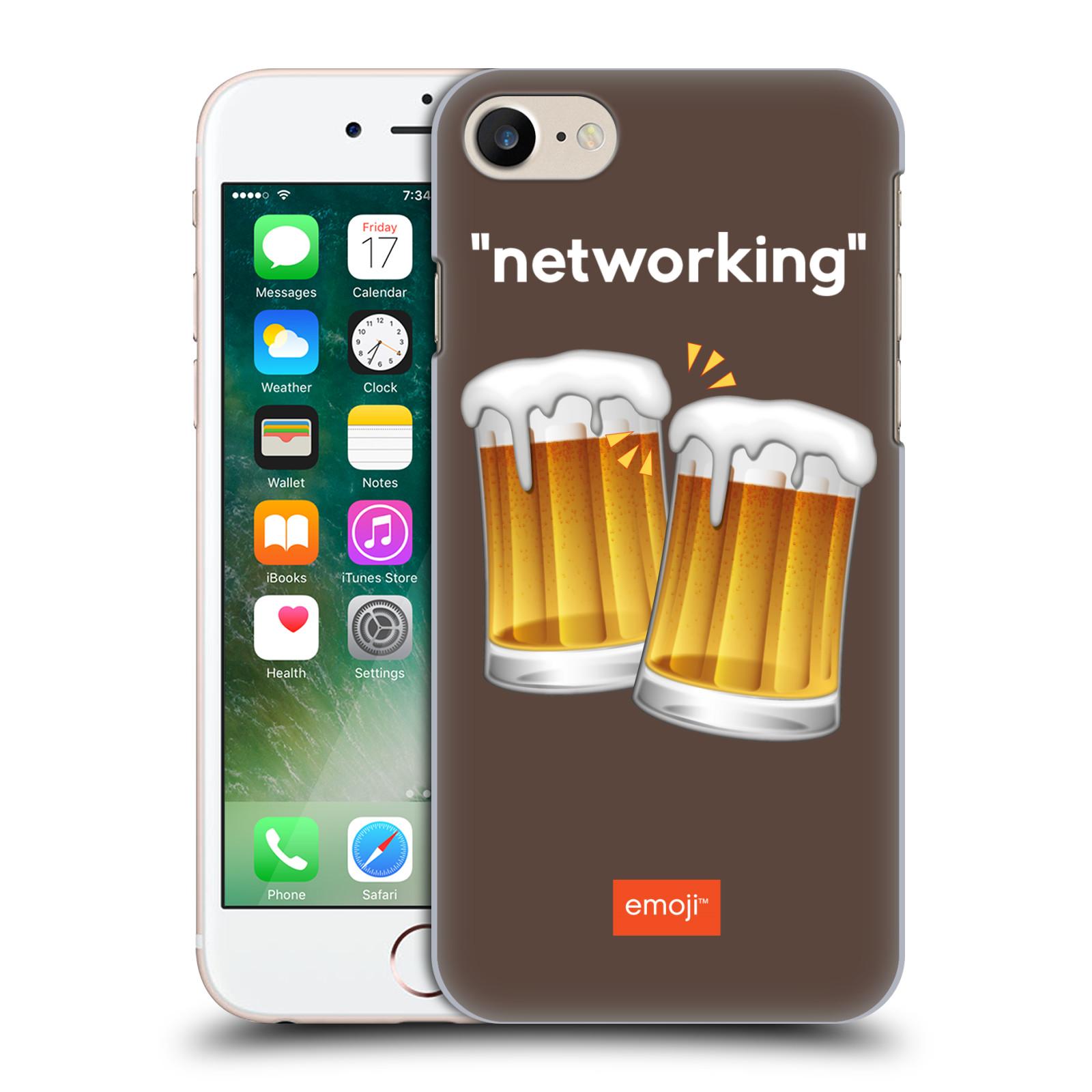 Plastové pouzdro na mobil Apple iPhone 7 HEAD CASE EMOJI - Pivní networking
