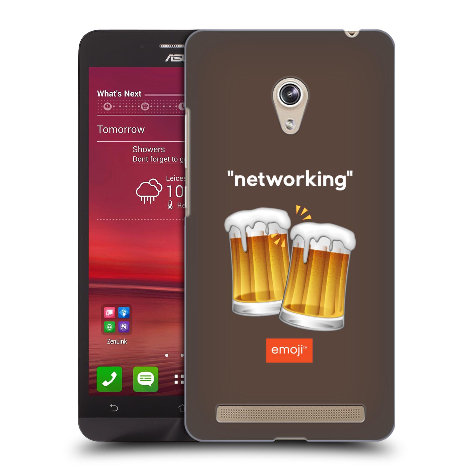 Plastové pouzdro na mobil Asus Zenfone 6 HEAD CASE EMOJI - Pivní networking (Kryt či obal s oficiálním motivem EMOJI na mobilní telefon Asus Zenfone 6 A600CG / A601CG)