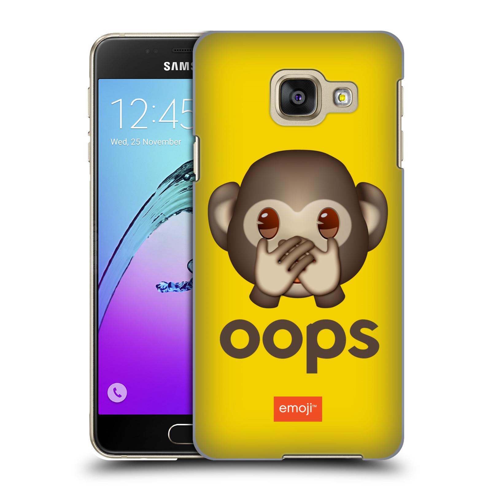 Plastové pouzdro na mobil Samsung Galaxy A3 (2016) HEAD CASE EMOJI - Opička OOPS