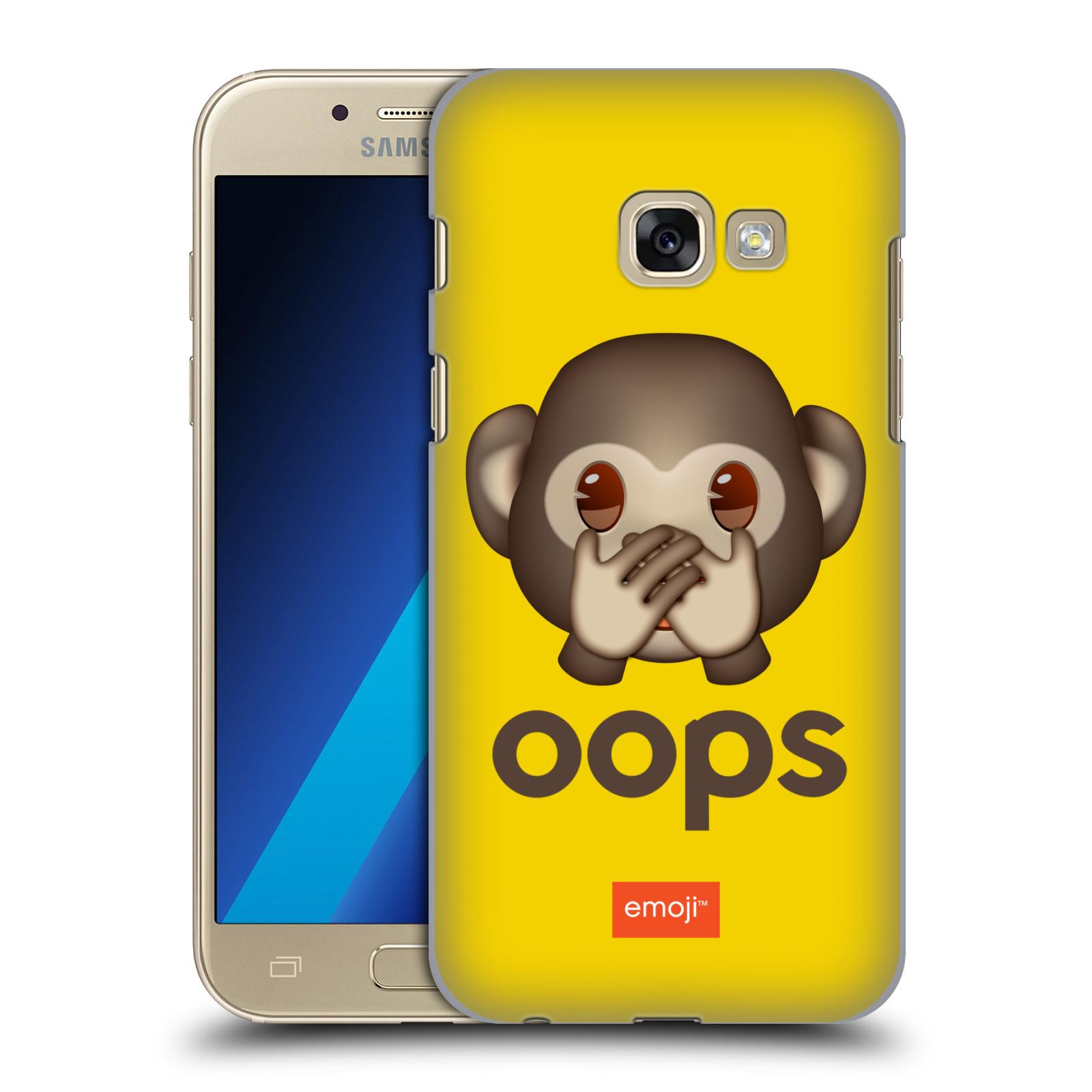 Plastové pouzdro na mobil Samsung Galaxy A3 (2017) HEAD CASE EMOJI - Opička OOPS