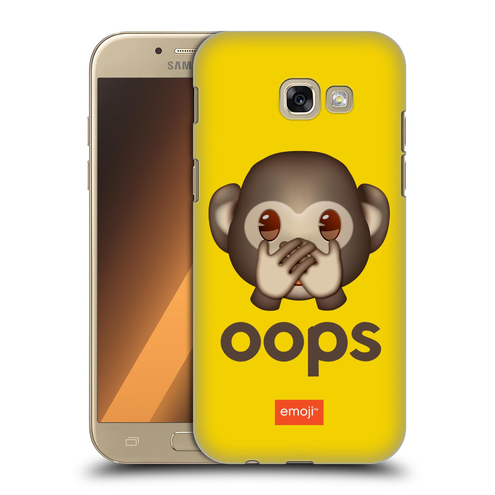Plastové pouzdro na mobil Samsung Galaxy A5 (2017) HEAD CASE EMOJI - Opička OOPS