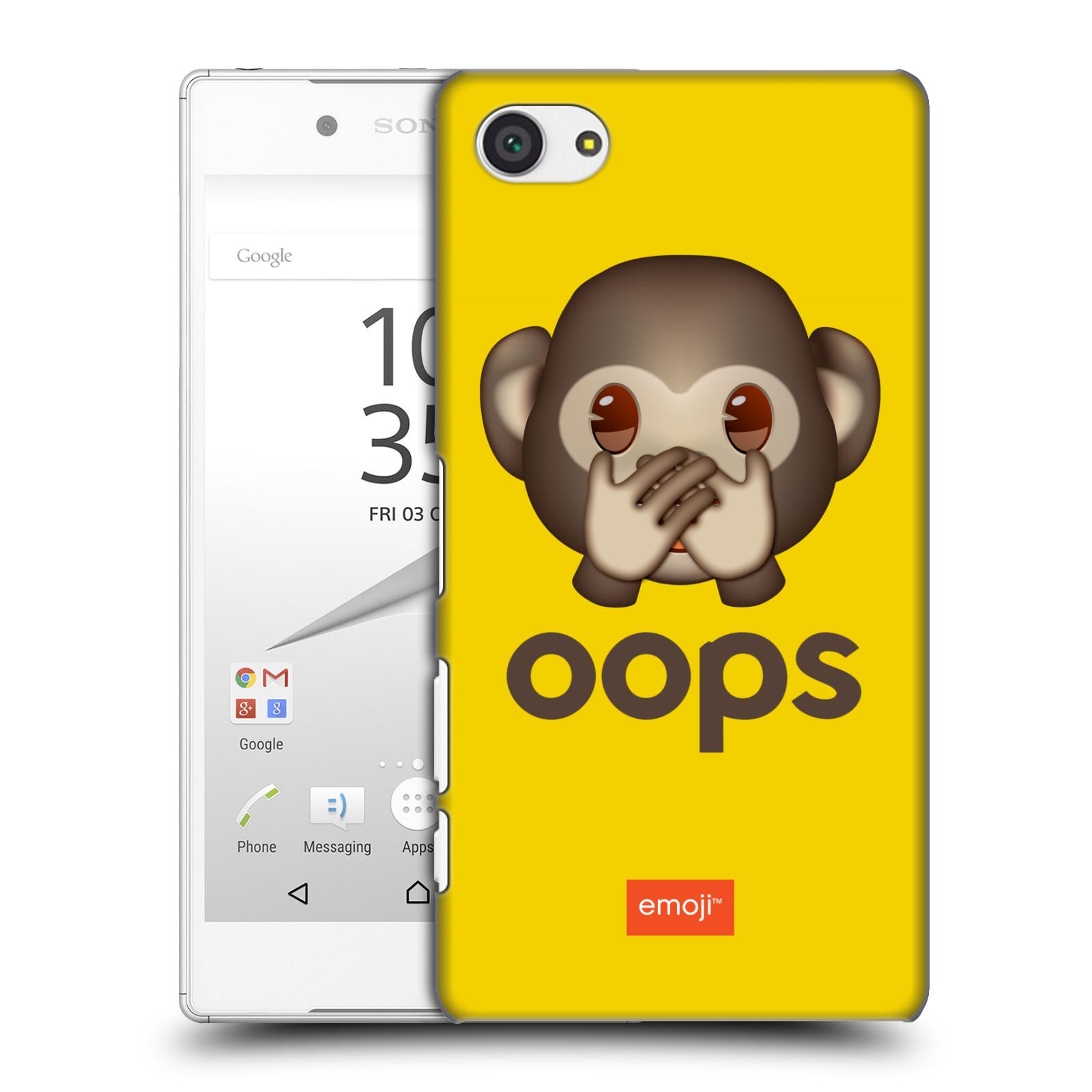 Plastové pouzdro na mobil Sony Xperia Z5 Compact HEAD CASE EMOJI - Opička OOPS