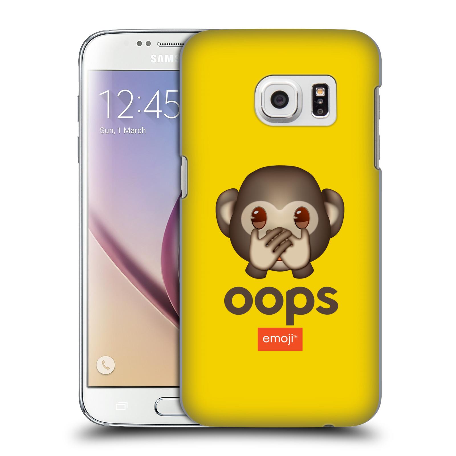 Plastové pouzdro na mobil Samsung Galaxy S7 HEAD CASE EMOJI - Opička OOPS (Kryt či obal s oficiálním motivem EMOJI na mobilní telefon Samsung Galaxy S7 SM-G930F)