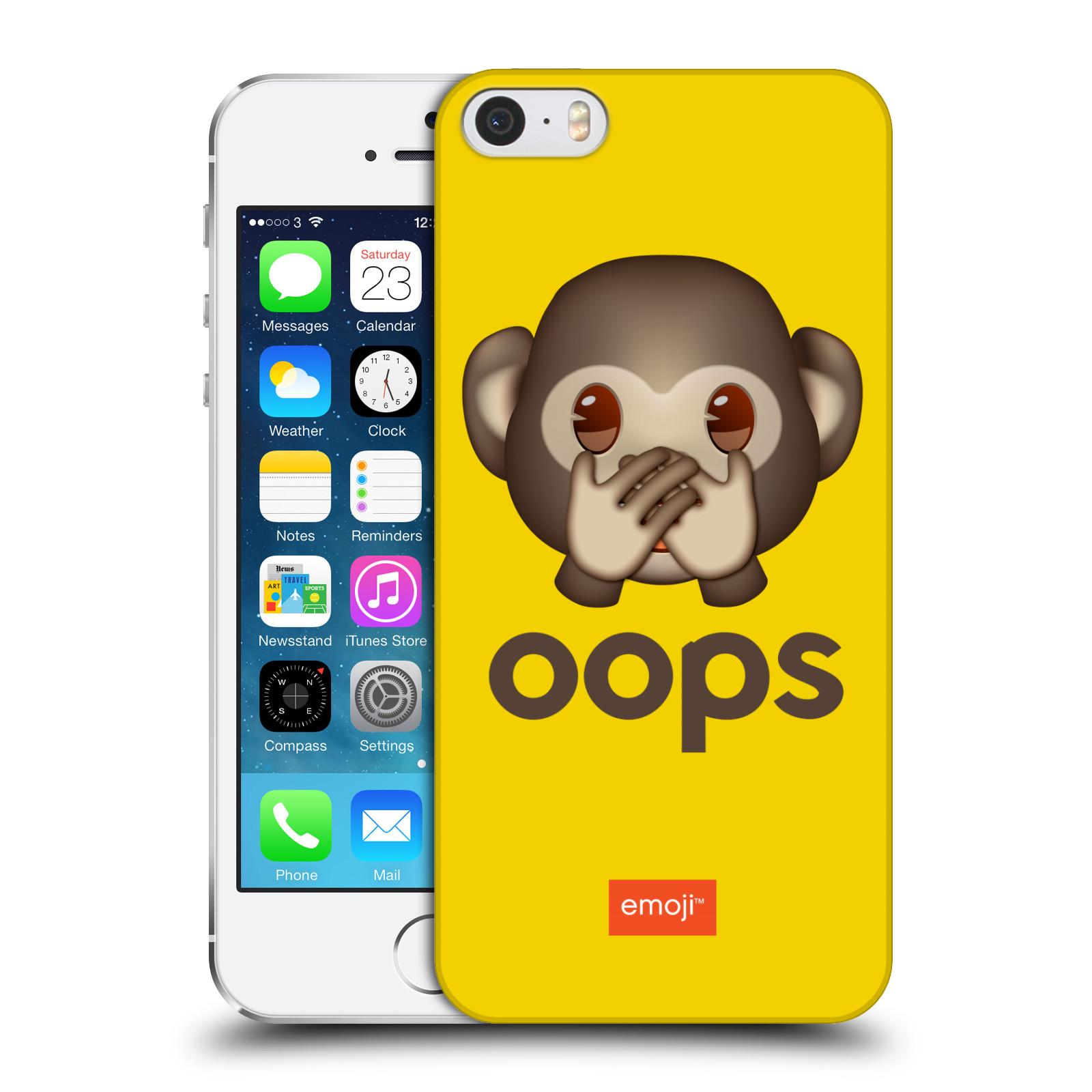 Plastové pouzdro na mobil Apple iPhone 5 a 5S HEAD CASE EMOJI - Opička OOPS