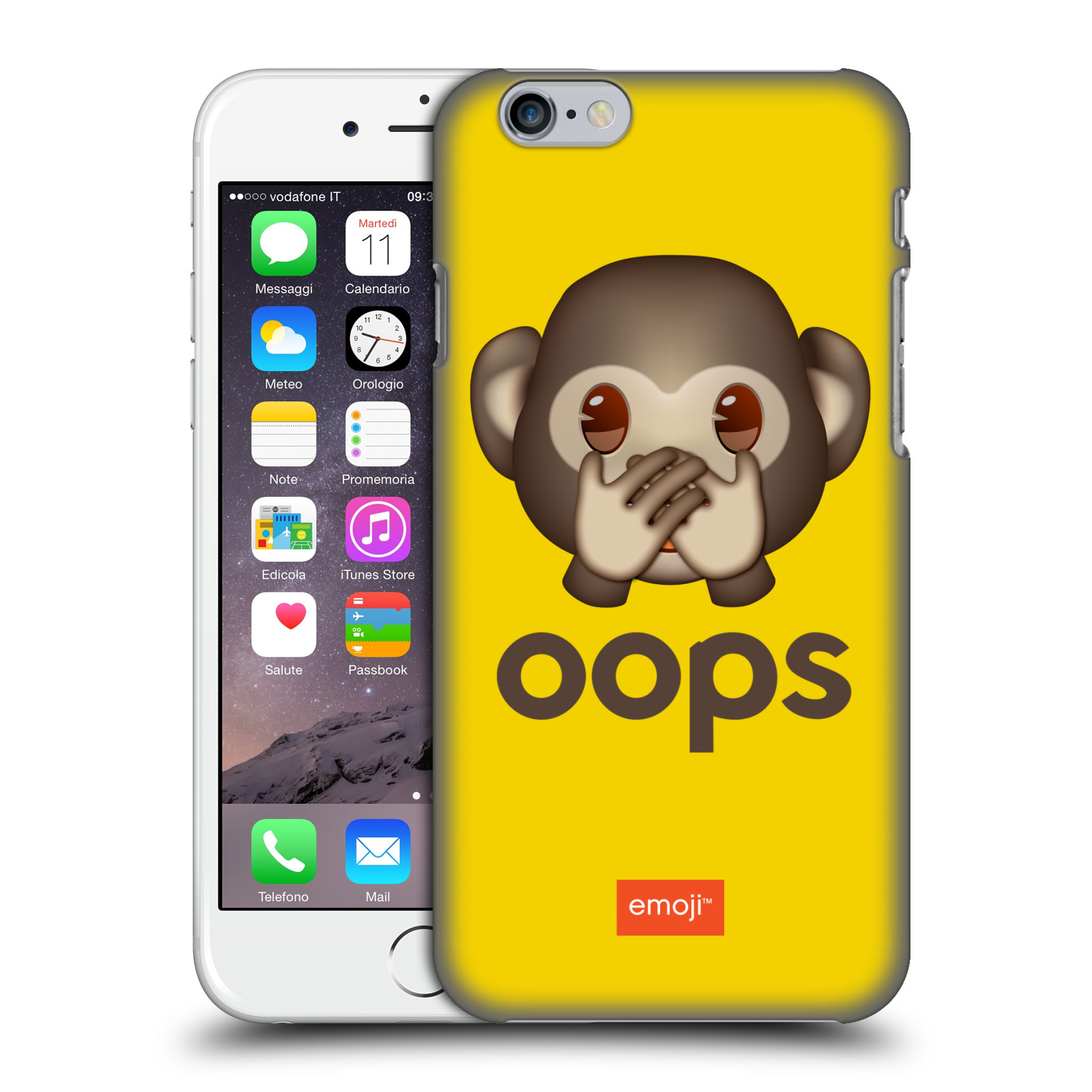 Plastové pouzdro na mobil Apple iPhone 6 HEAD CASE EMOJI - Opička OOPS