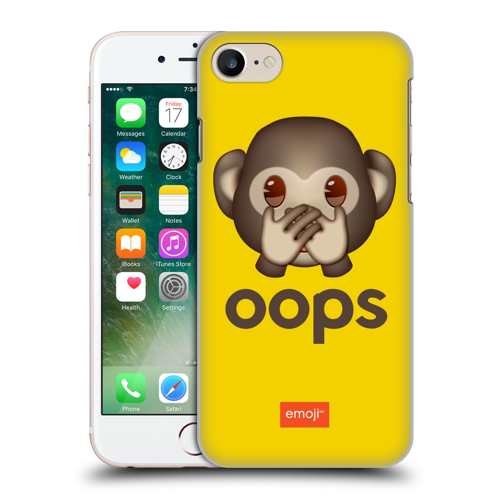 Plastové pouzdro na mobil Apple iPhone 7 HEAD CASE EMOJI - Opička OOPS