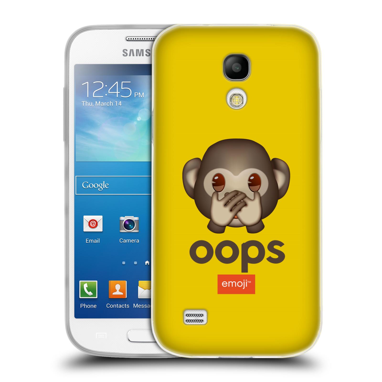 5179c7349 Silikonové pouzdro na mobil Samsung Galaxy S4 Mini VE HEAD CASE EMOJI -  Opička OOPS