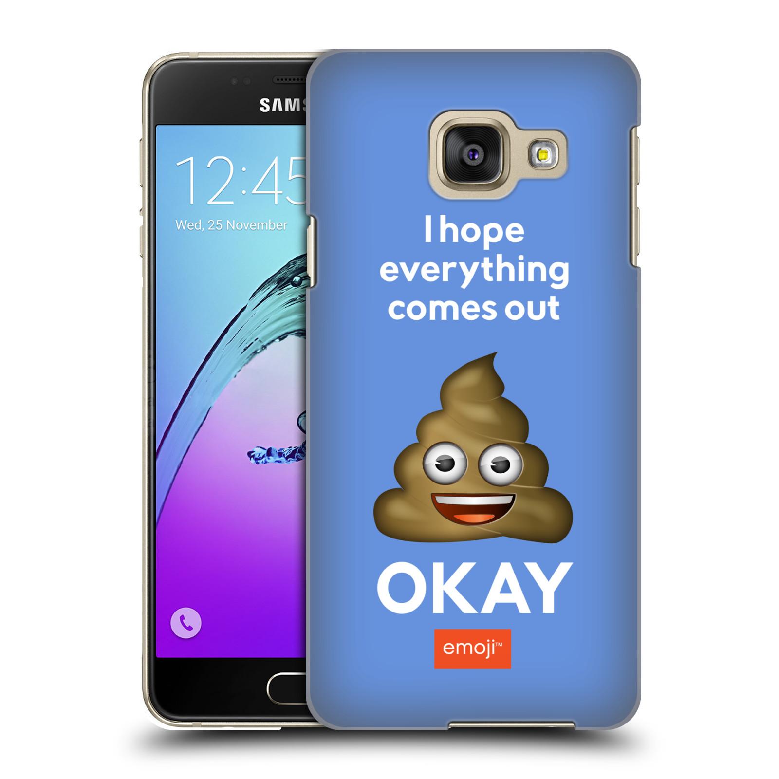 Plastové pouzdro na mobil Samsung Galaxy A3 (2016) HEAD CASE EMOJI - Hovínko OKAY