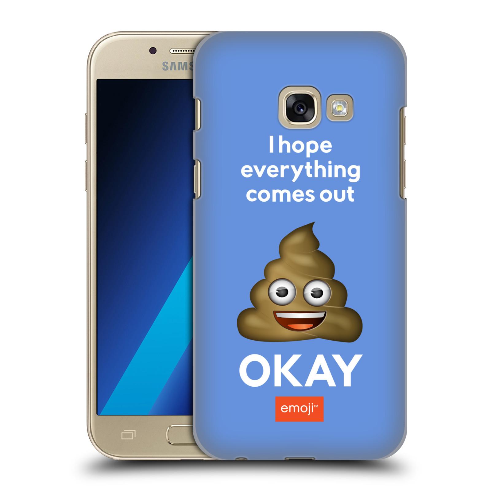 Plastové pouzdro na mobil Samsung Galaxy A3 (2017) HEAD CASE EMOJI - Hovínko OKAY