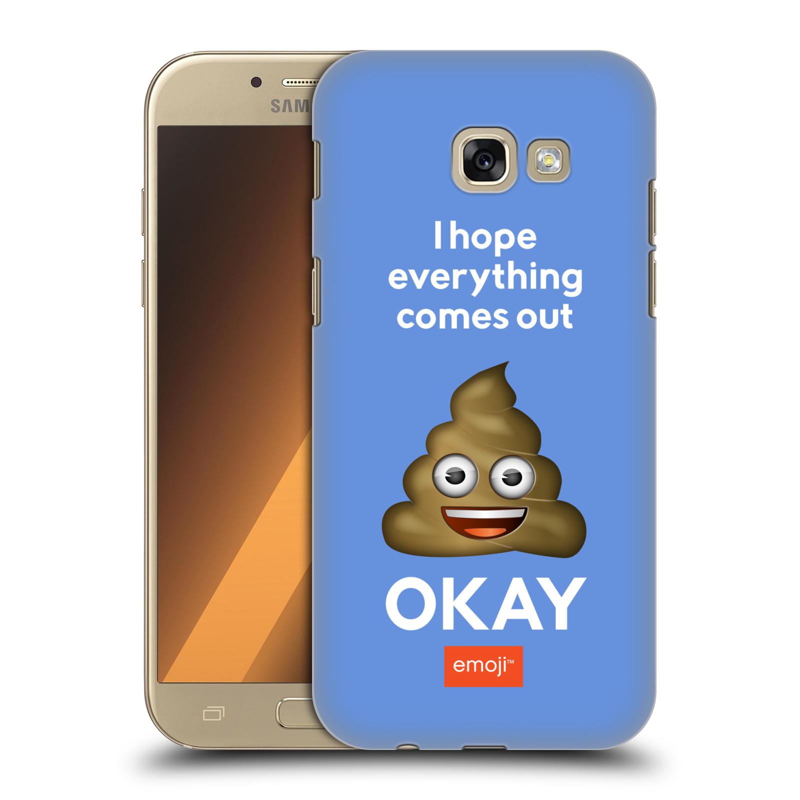 Plastové pouzdro na mobil Samsung Galaxy A5 (2017) HEAD CASE EMOJI - Hovínko OKAY