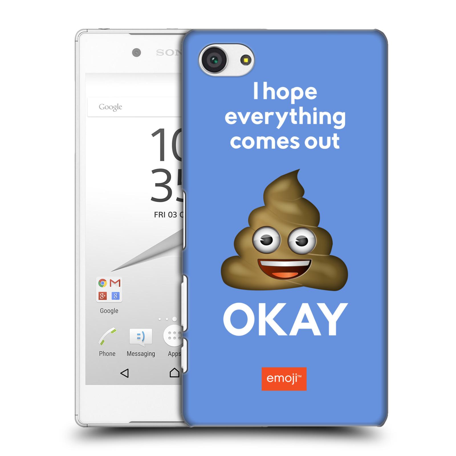 Plastové pouzdro na mobil Sony Xperia Z5 Compact HEAD CASE EMOJI - Hovínko OKAY