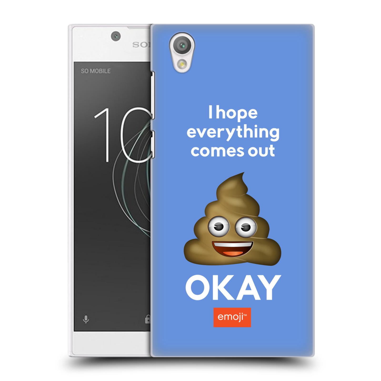 Plastové pouzdro na mobil Sony Xperia L1 - Head Case - EMOJI - Hovínko OKAY