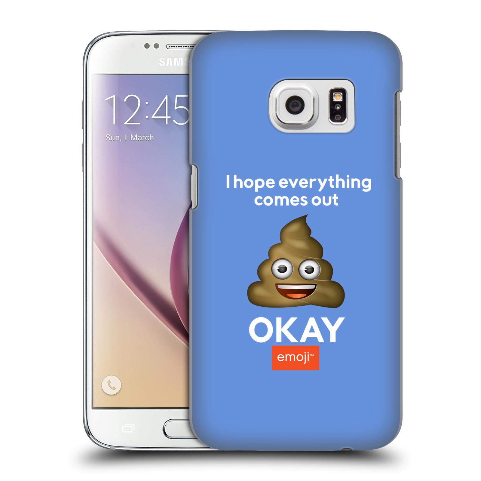 Plastové pouzdro na mobil Samsung Galaxy S7 HEAD CASE EMOJI - Hovínko OKAY (Kryt či obal s oficiálním motivem EMOJI na mobilní telefon Samsung Galaxy S7 SM-G930F)