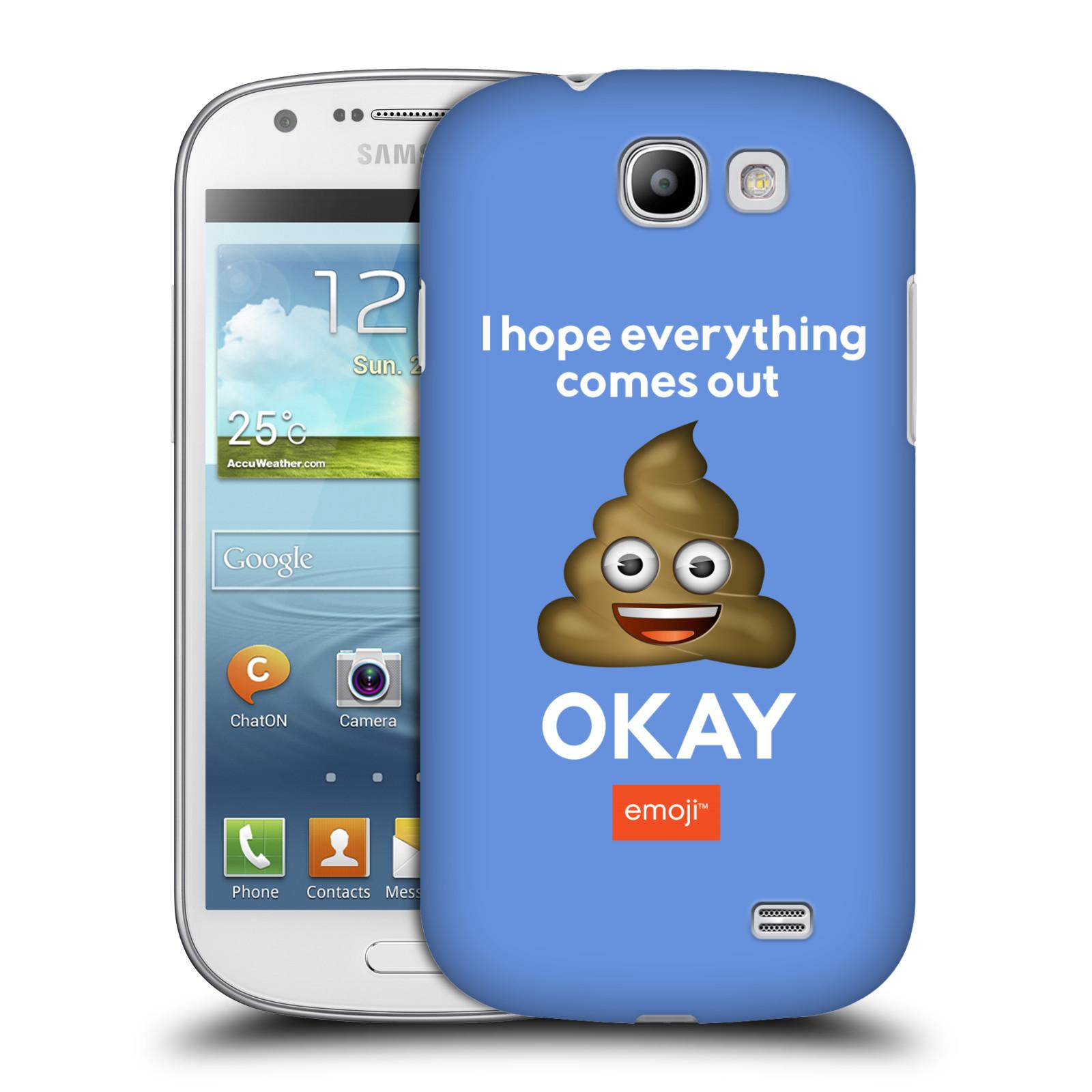 Plastové pouzdro na mobil Samsung Galaxy Express HEAD CASE EMOJI - Hovínko OKAY (Kryt či obal s oficiálním motivem EMOJI na mobilní telefon Samsung Galaxy Express GT-i8730)