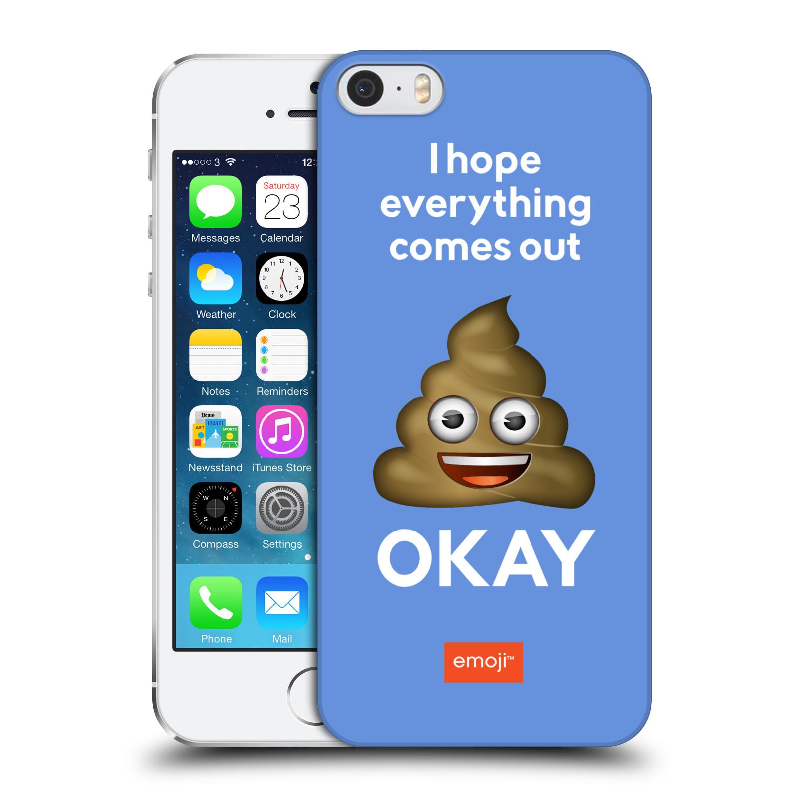 Plastové pouzdro na mobil Apple iPhone 5 a 5S HEAD CASE EMOJI - Hovínko OKAY