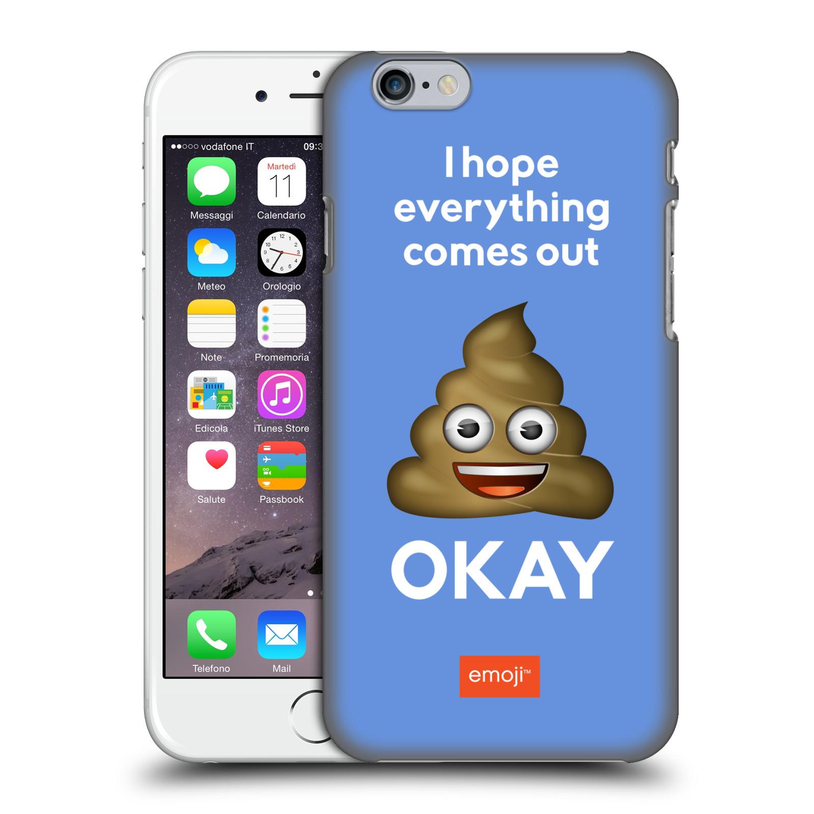 Plastové pouzdro na mobil Apple iPhone 6 HEAD CASE EMOJI - Hovínko OKAY