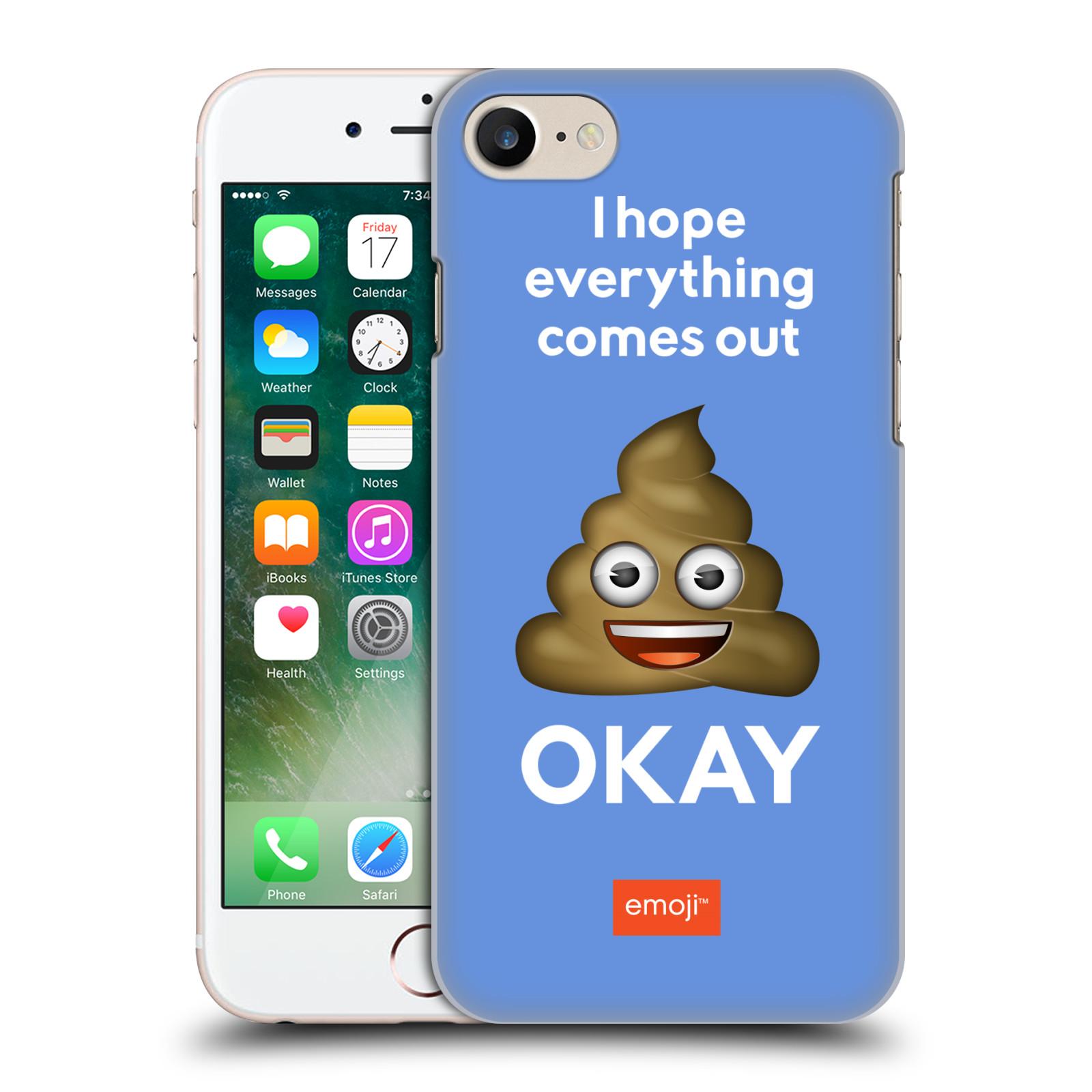 Plastové pouzdro na mobil Apple iPhone 7 HEAD CASE EMOJI - Hovínko OKAY