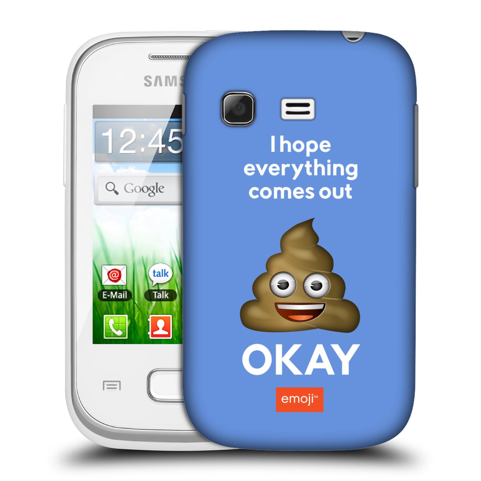 Plastové pouzdro na mobil Samsung Galaxy Pocket HEAD CASE EMOJI - Hovínko OKAY (Kryt či obal s oficiálním motivem EMOJI na mobilní telefon Samsung Galaxy Pocket GT-S5300)