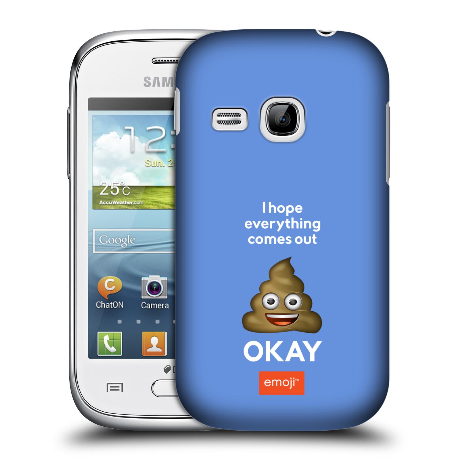 Plastové pouzdro na mobil Samsung Galaxy Young HEAD CASE EMOJI - Hovínko OKAY (Kryt či obal s oficiálním motivem EMOJI na mobilní telefon Samsung Galaxy Young GT-S6310)
