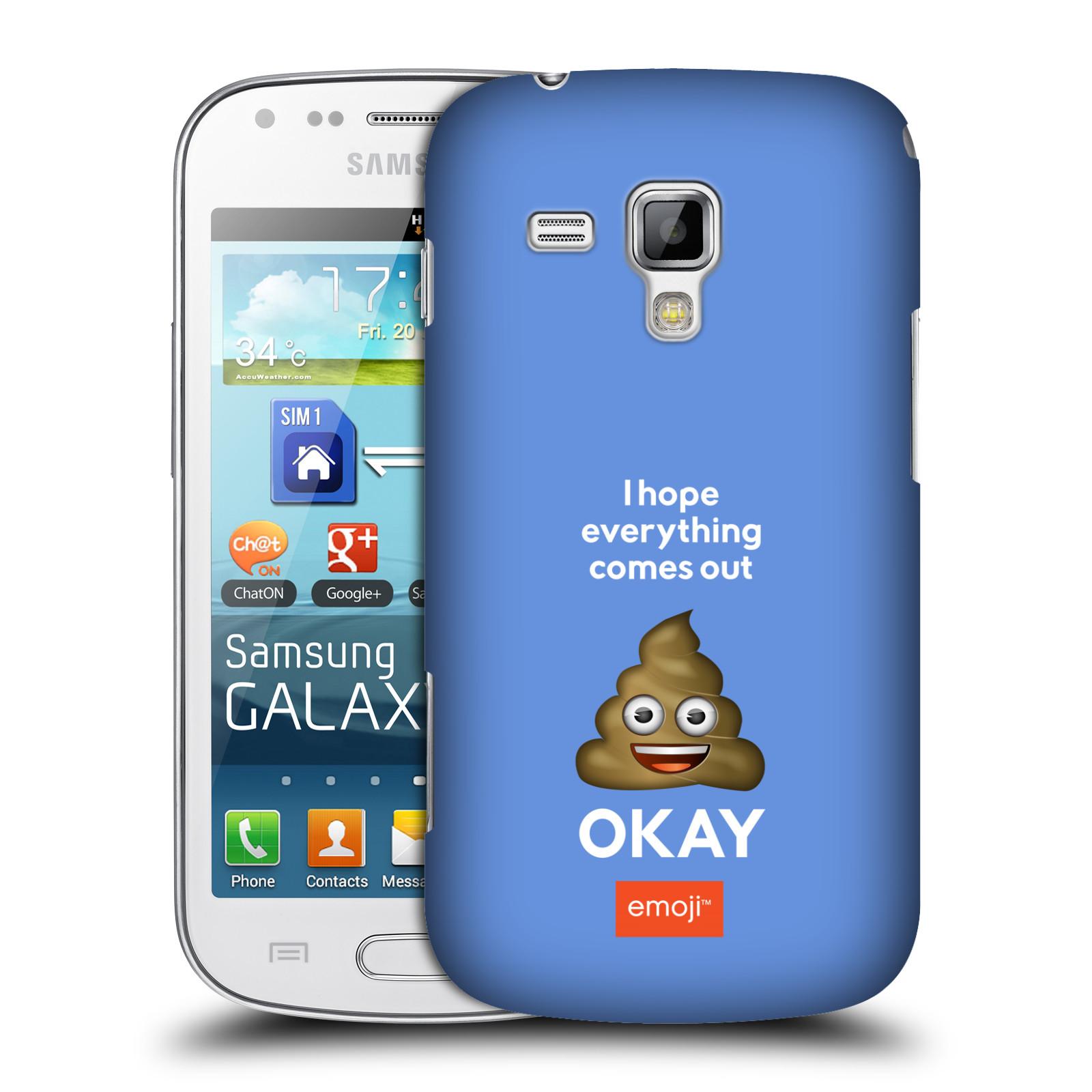 Plastové pouzdro na mobil Samsung Galaxy Trend HEAD CASE EMOJI - Hovínko OKAY (Kryt či obal s oficiálním motivem EMOJI na mobilní telefon Samsung Galaxy Trend GT-S7560)