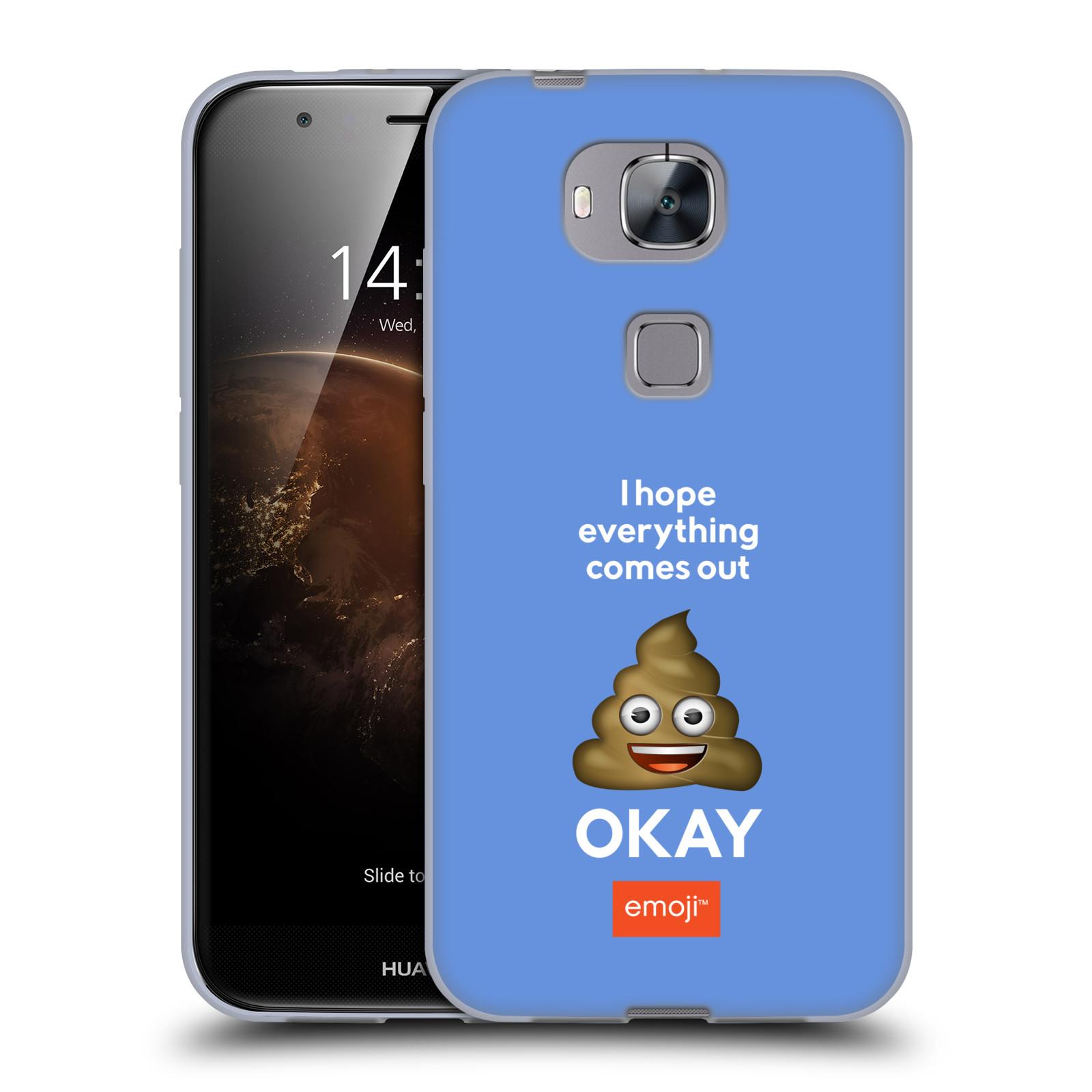 Silikonové pouzdro na mobil Huawei G8 HEAD CASE EMOJI - Hovínko OKAY
