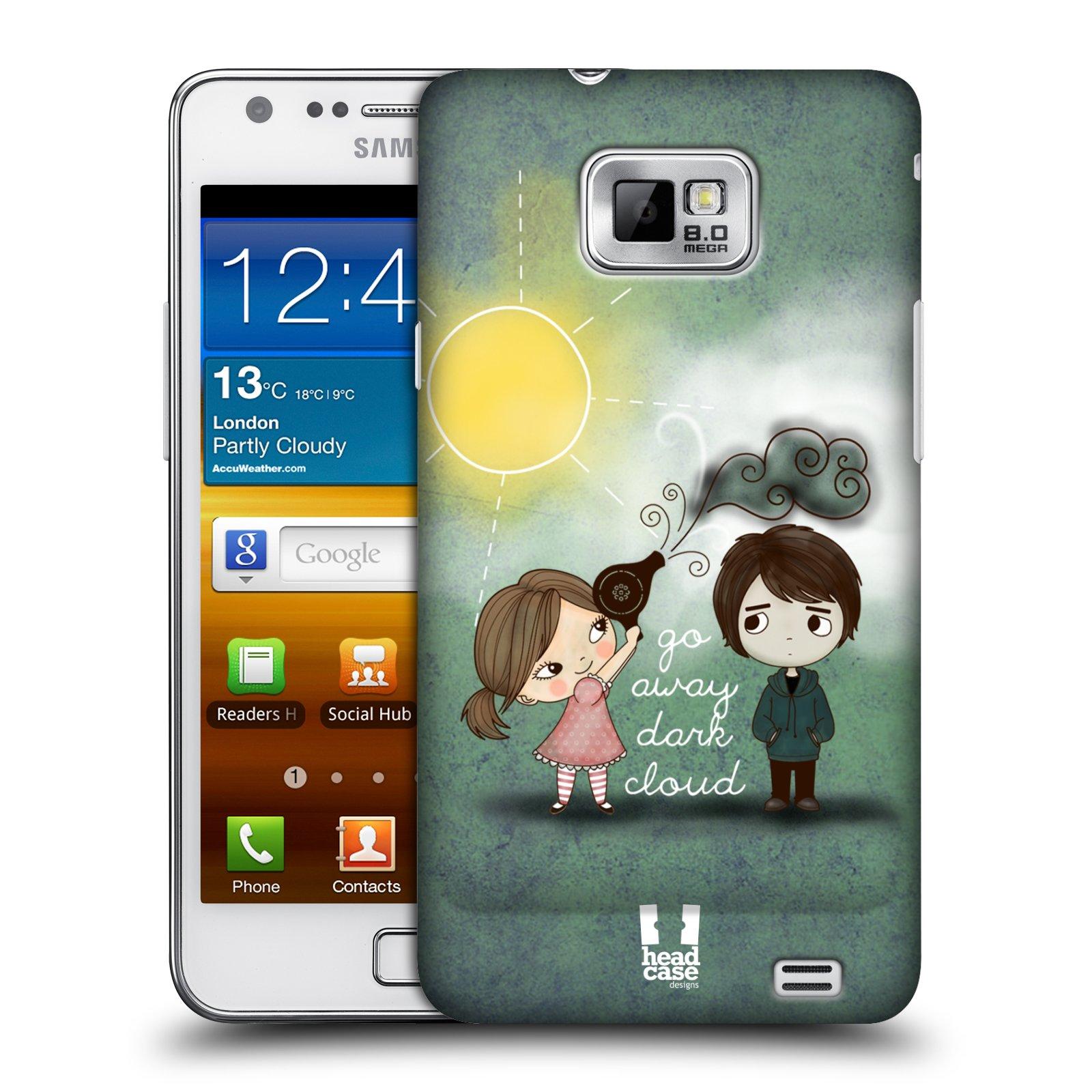 Plastové pouzdro na mobil Samsung Galaxy S II HEAD CASE Emo Love na Sluníčku (Kryt či obal na mobilní telefon Samsung Galaxy S II GT-i9100)