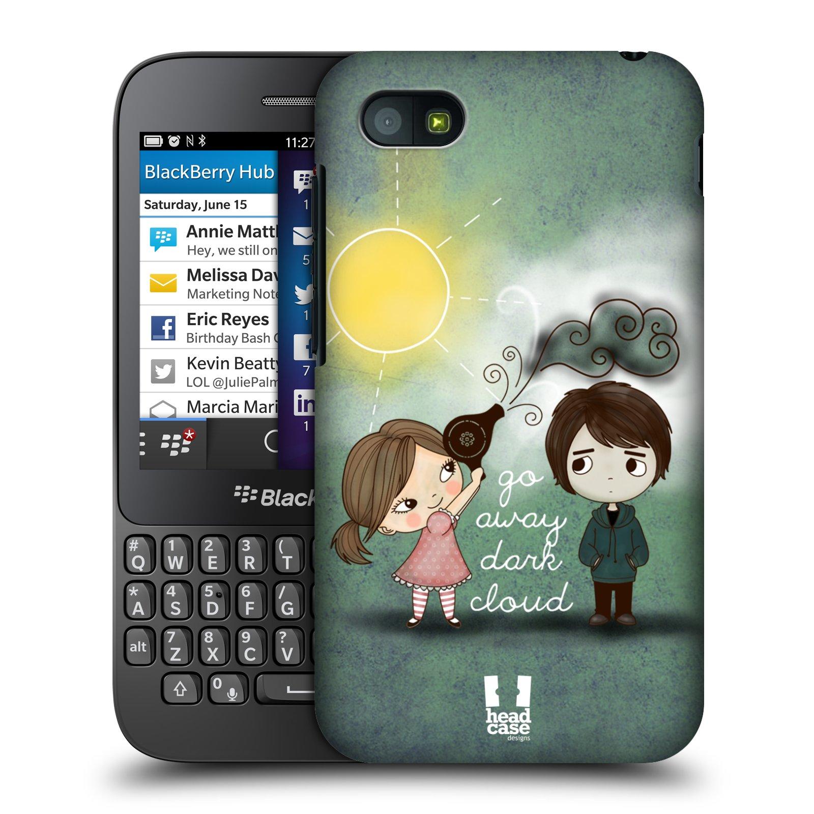 Plastové pouzdro na mobil Blackberry Q5 HEAD CASE Emo Love na Sluníčku (Kryt či obal na mobilní telefon Blackberry Q5)