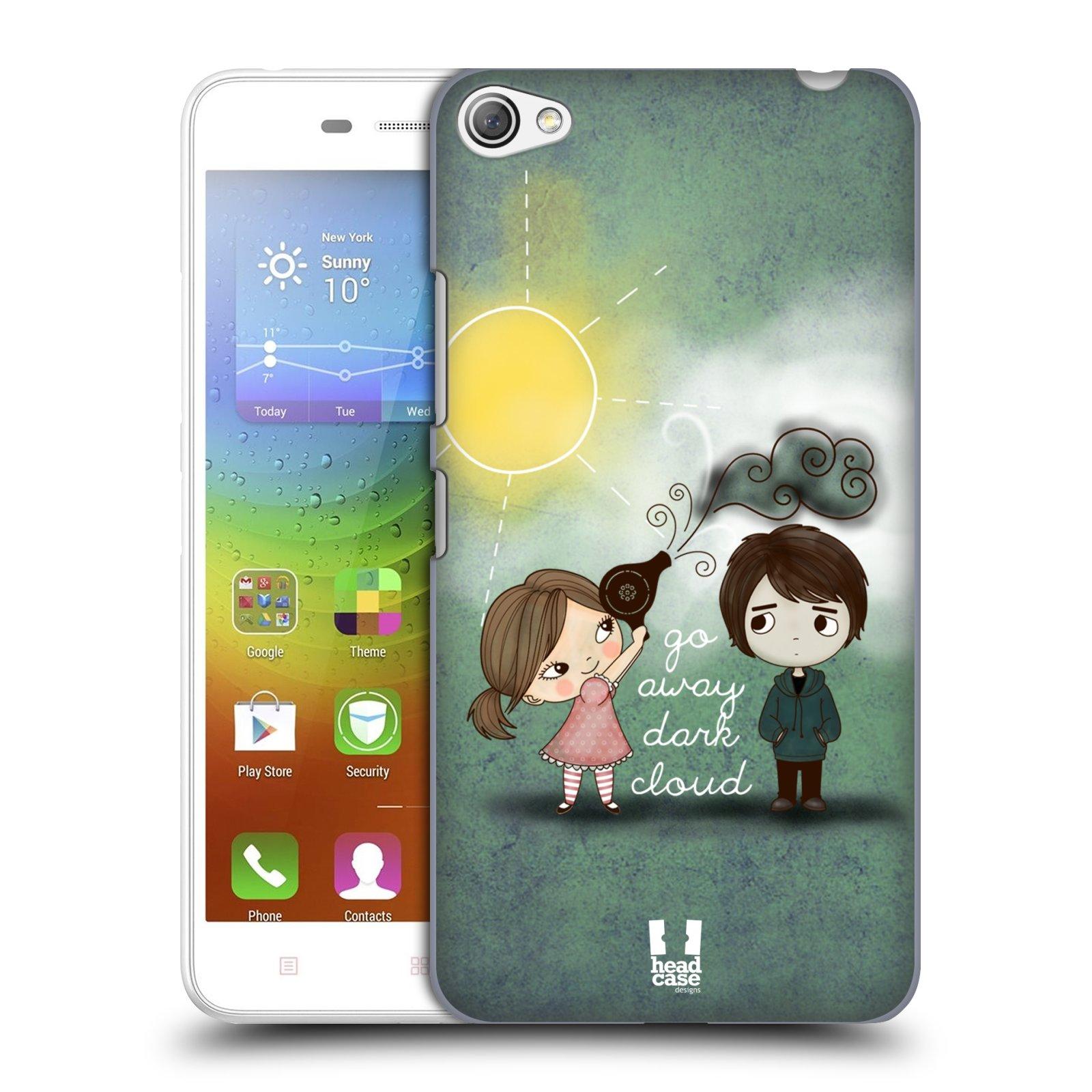 Plastové pouzdro na mobil Lenovo S60 HEAD CASE Emo Love na Sluníčku (Kryt či obal na mobilní telefon Lenovo S60)