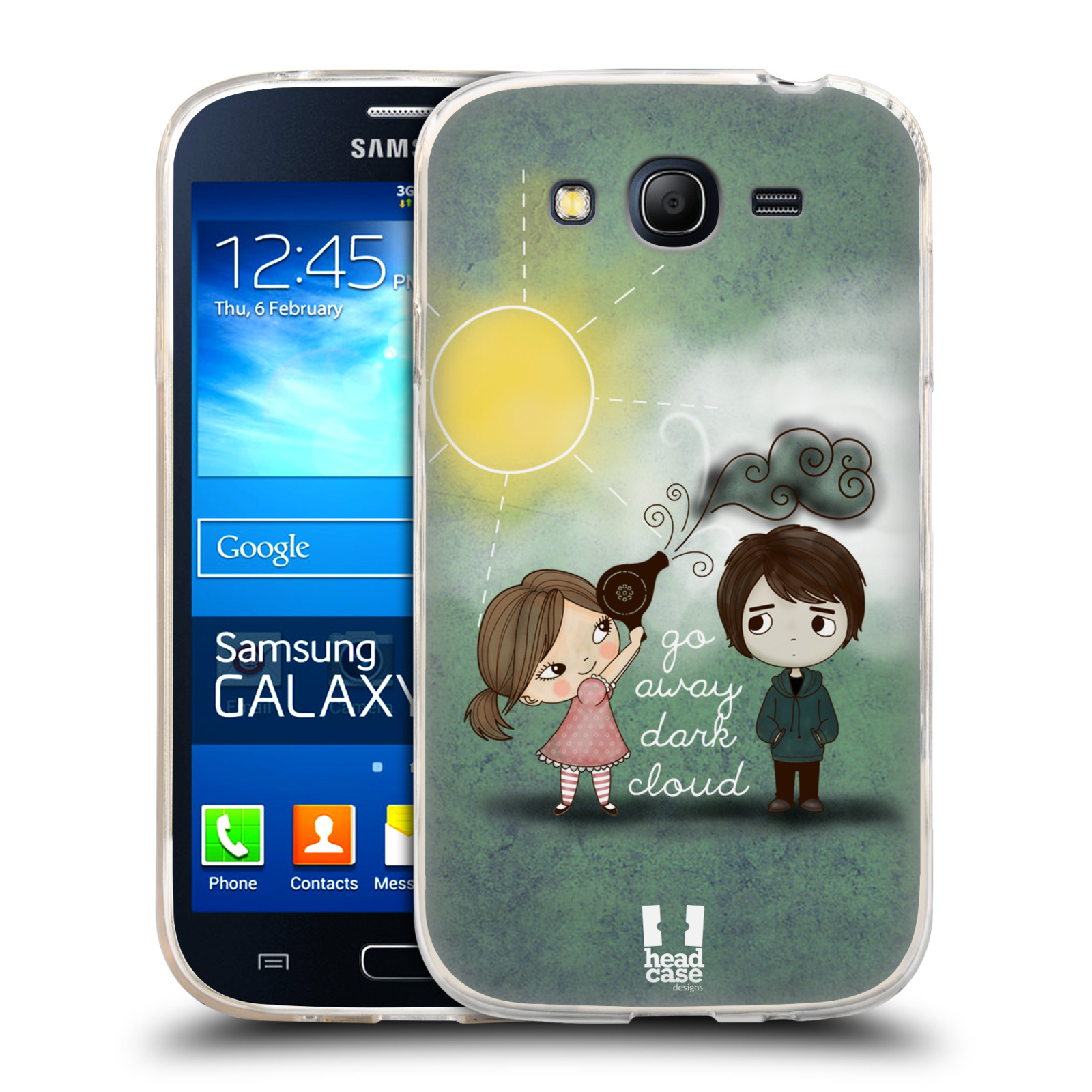 Silikonové pouzdro na mobil Samsung Galaxy Grand Neo HEAD CASE Emo Love na Sluníčku (Silikonový kryt či obal na mobilní telefon Samsung Galaxy Grand Neo GT-I9060)