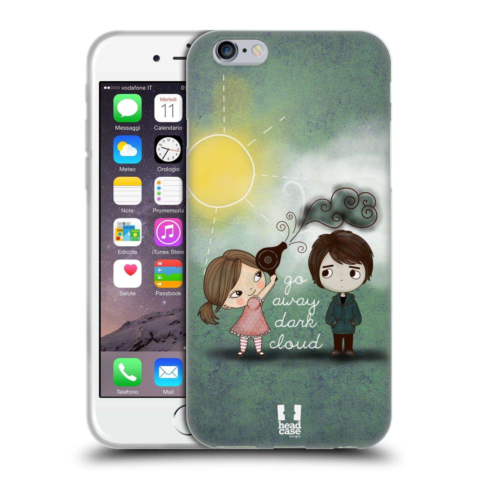 Silikonové pouzdro na mobil Apple iPhone 6 a 6S HEAD CASE Emo Love na  Sluníčku ( 89c71d8aa31