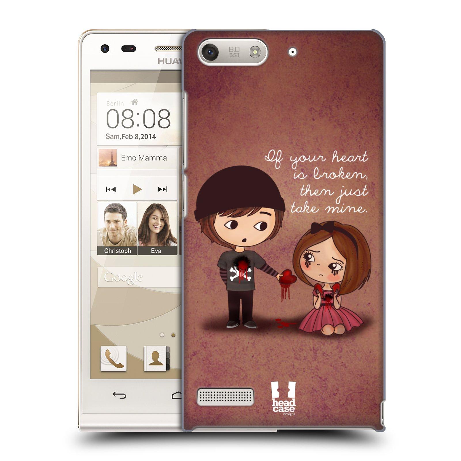 Plastové pouzdro na mobil Huawei Ascend G6 HEAD CASE Emo Love Srdce (Kryt či obal na mobilní telefon Huawei Ascend G6 bez LTE)