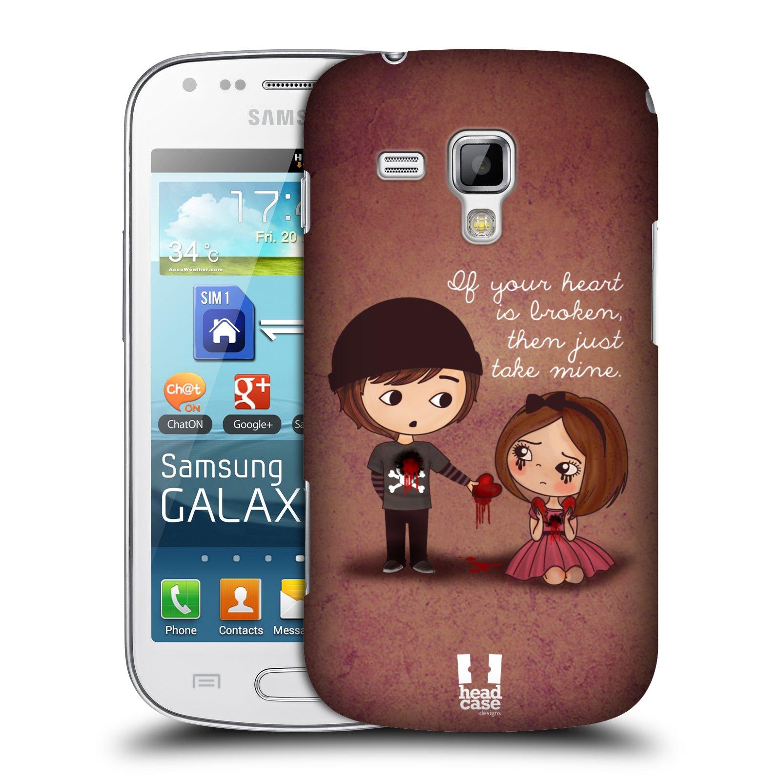 Plastové pouzdro na mobil Samsung Galaxy Trend Plus HEAD CASE Emo Love Srdce