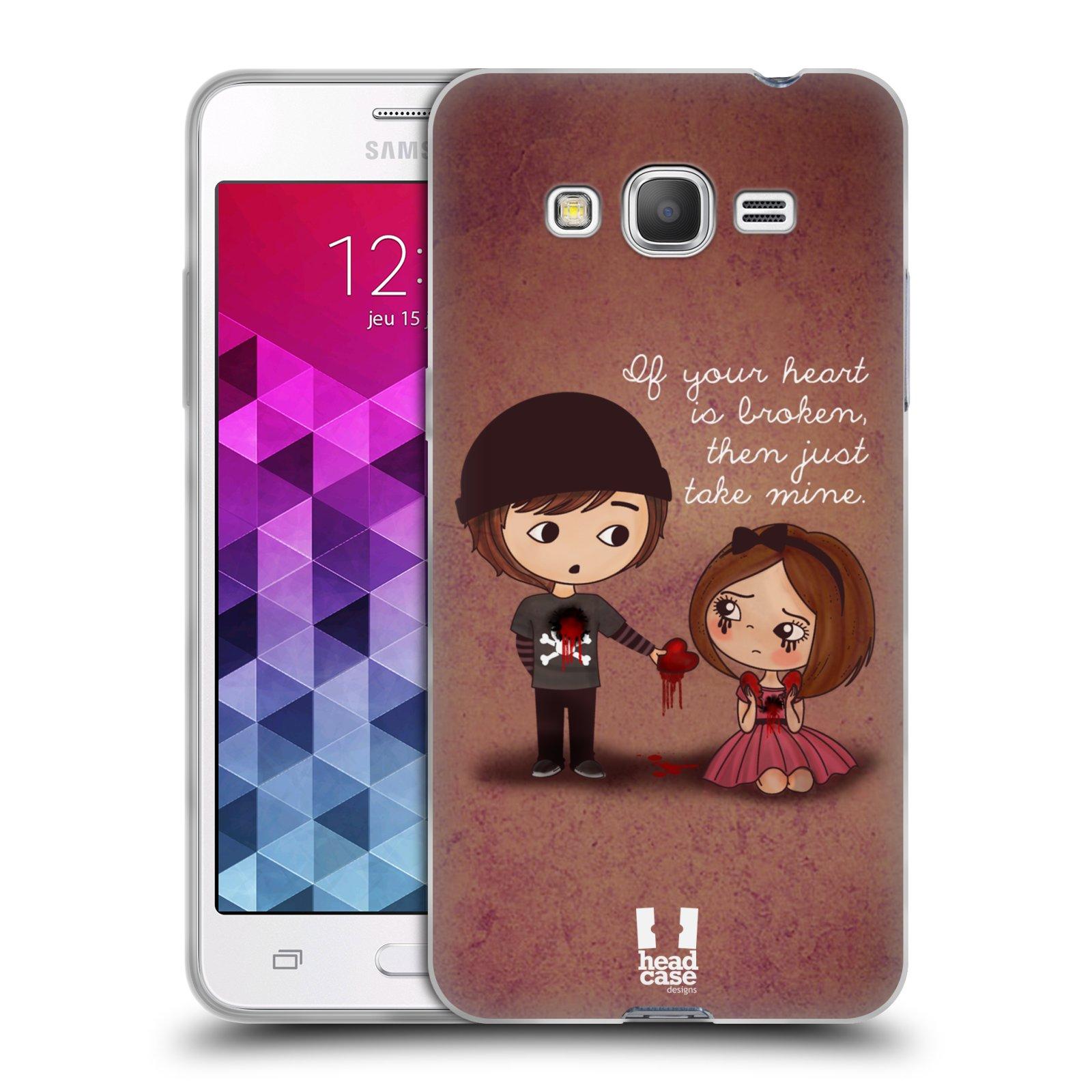 Silikonové pouzdro na mobil Samsung Galaxy Grand Prime VE HEAD CASE Emo Love Srdce
