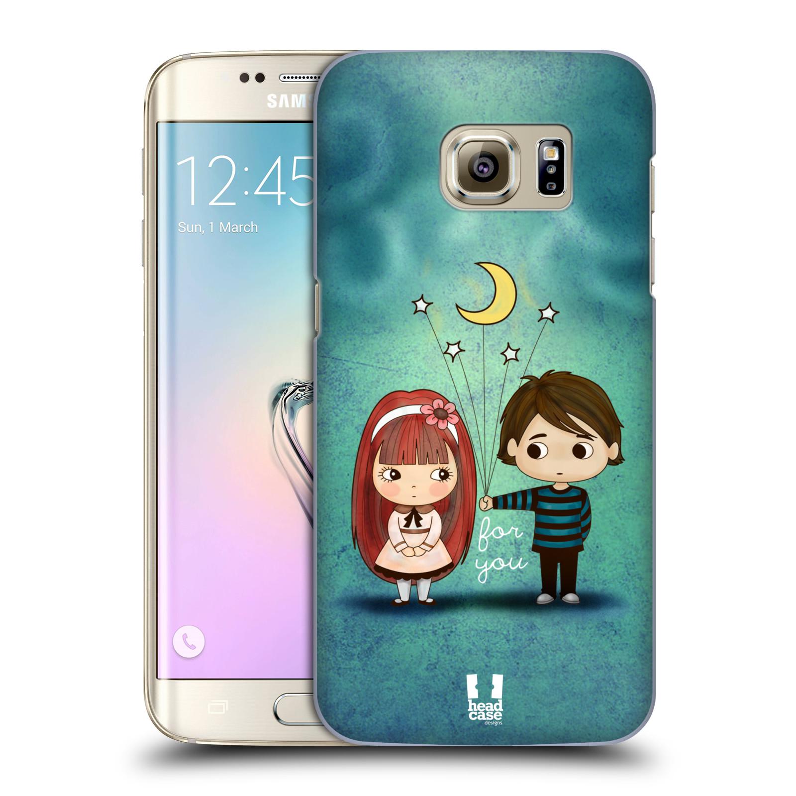 Plastové pouzdro na mobil Samsung Galaxy S7 Edge HEAD CASE Emo Love při Měsíčku (Kryt či obal na mobilní telefon Samsung Galaxy S7 Edge SM-G935F)