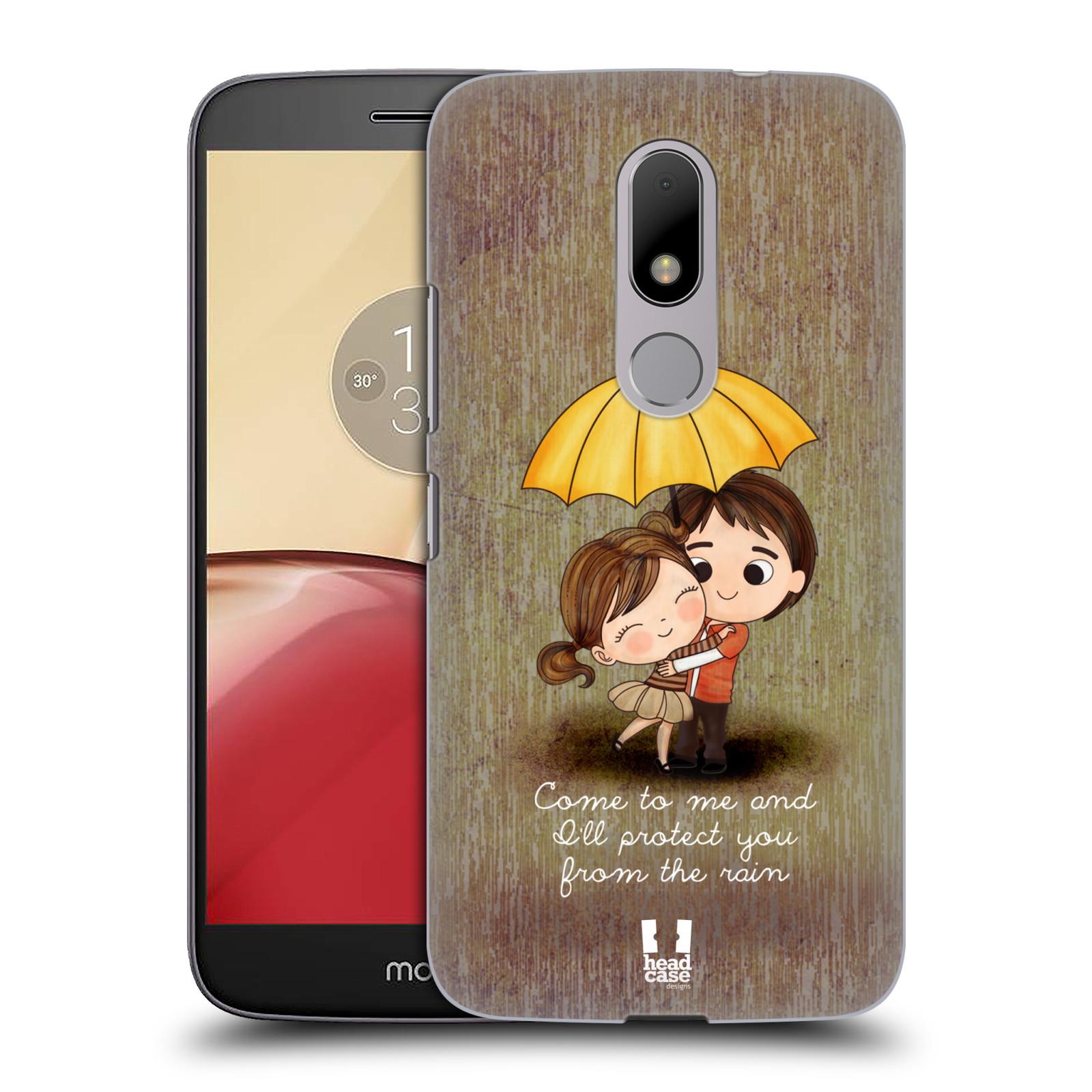 Plastové pouzdro na mobil Lenovo Moto M HEAD CASE Emo Love v Dešti