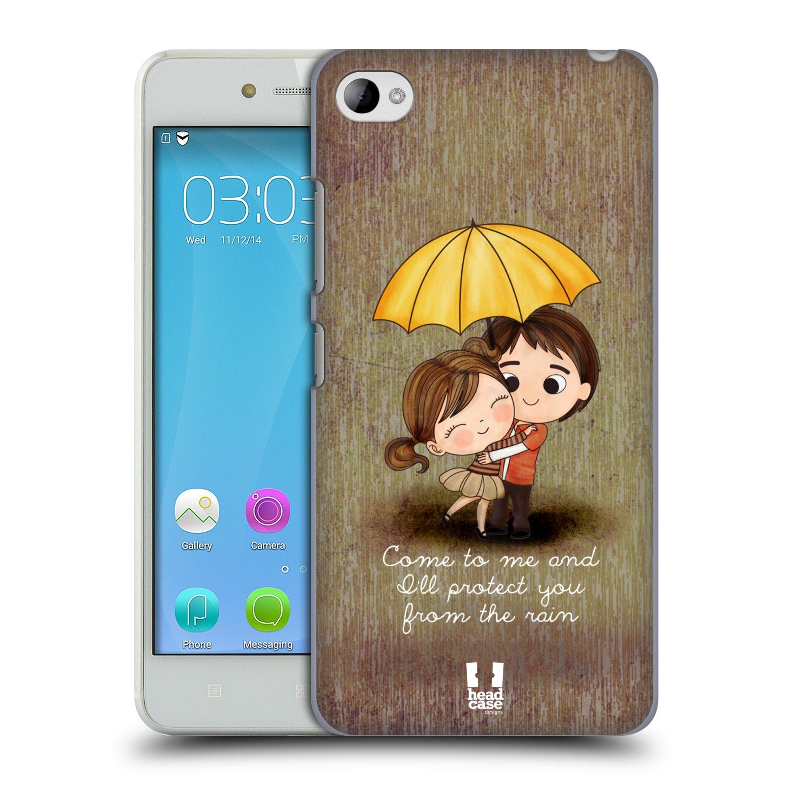 Plastové pouzdro na mobil Lenovo S90 HEAD CASE Emo Love v Dešti