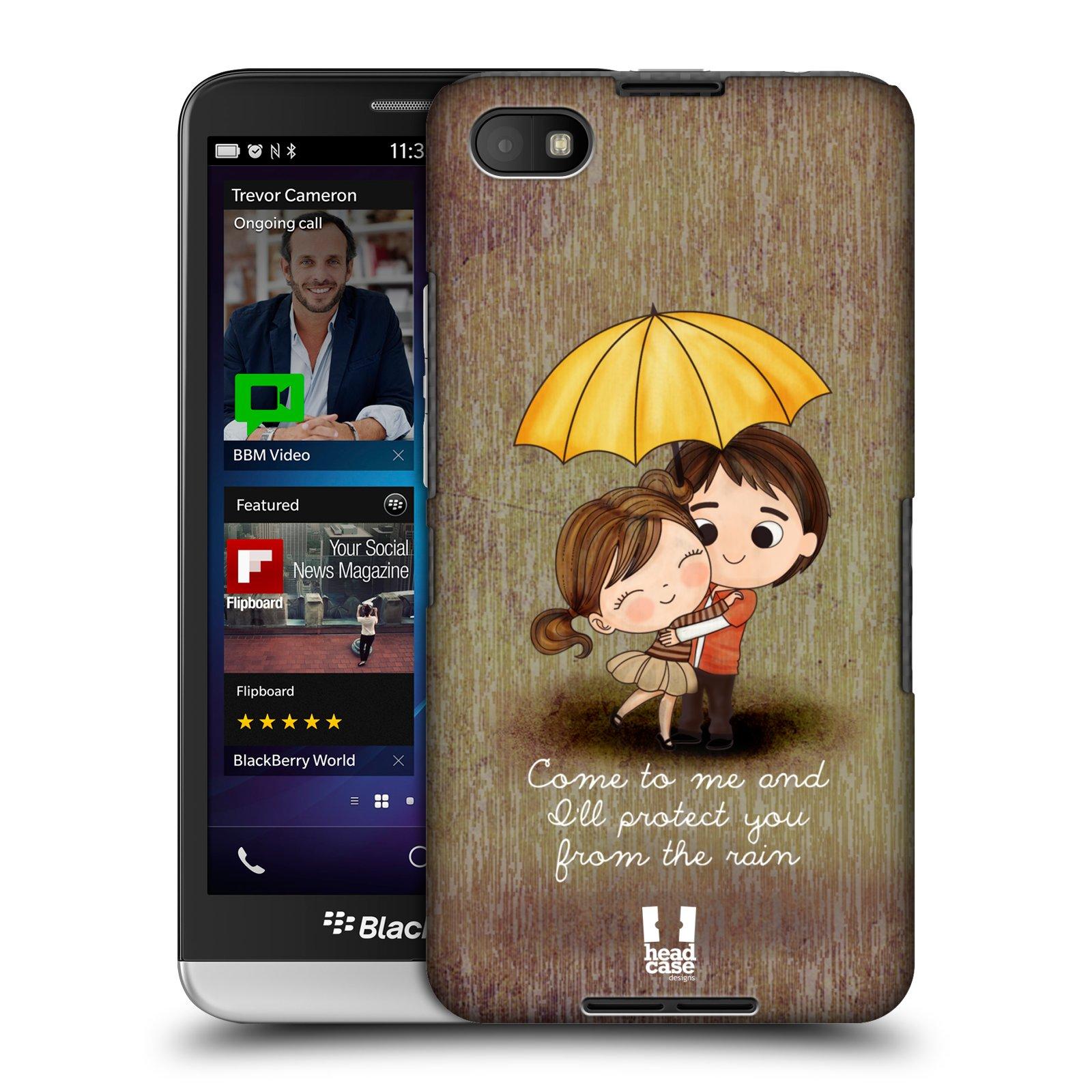 Plastové pouzdro na mobil Blackberry Z30 HEAD CASE Emo Love v Dešti (Kryt či obal na mobilní telefon Blackberry Z30)