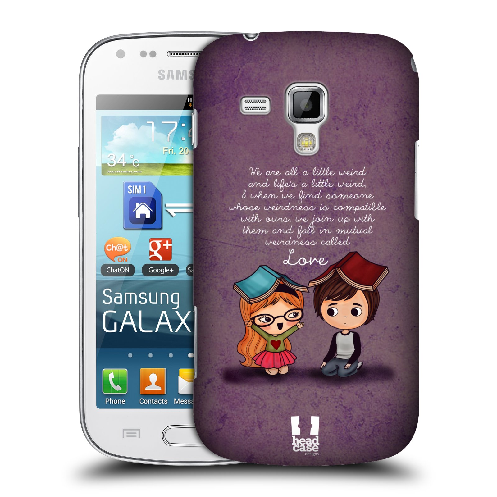 Plastové pouzdro na mobil Samsung Galaxy S Duos 2 HEAD CASE Emo Love Weirdness