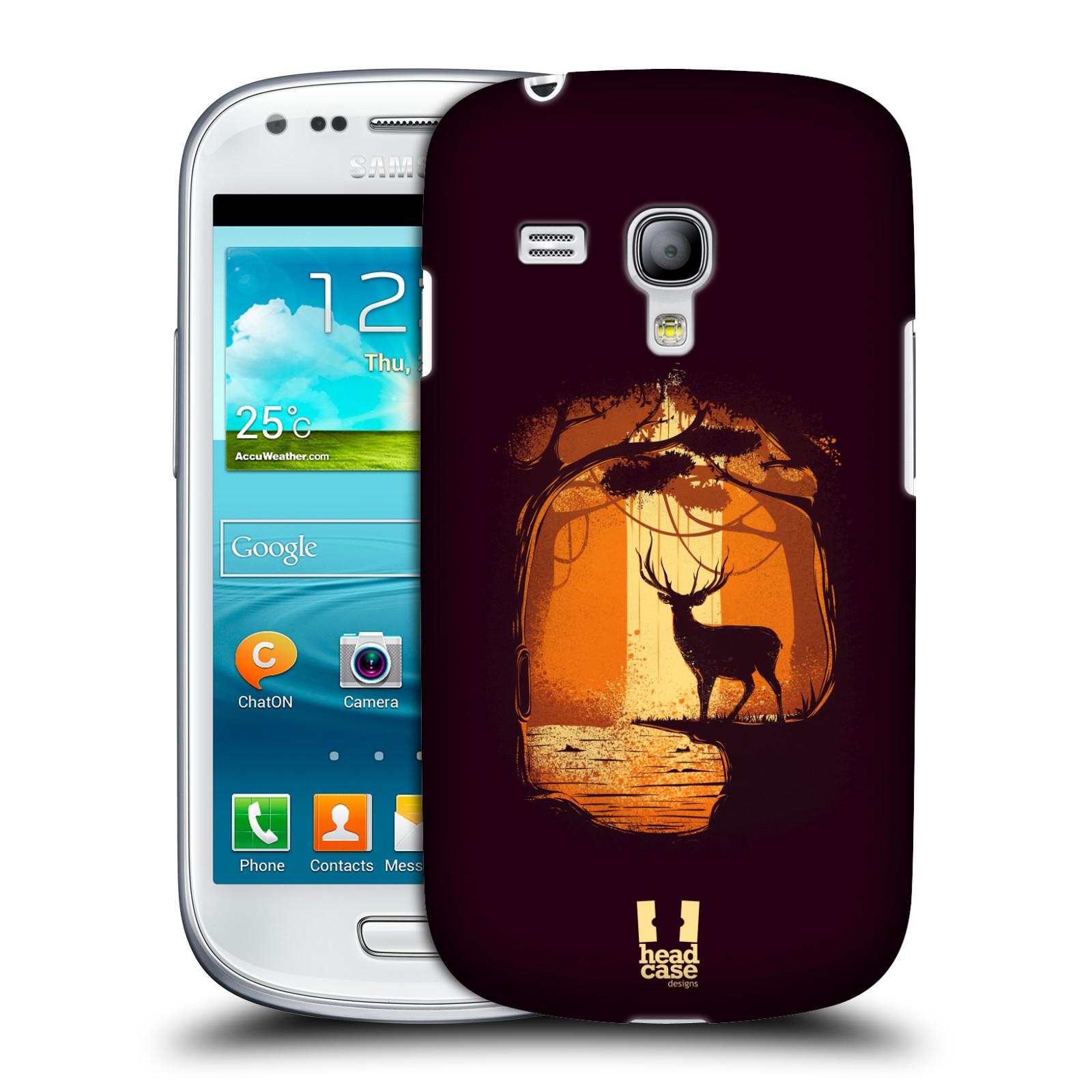 Silikonové pouzdro na mobil Samsung Galaxy S III Mini VE - Head Case - Jelen v tajemném lese (Plastový kryt či obal na mobilní telefon s motivem tajemného lesa pro Samsung Galaxy S3 Mini VE GT-i8200)