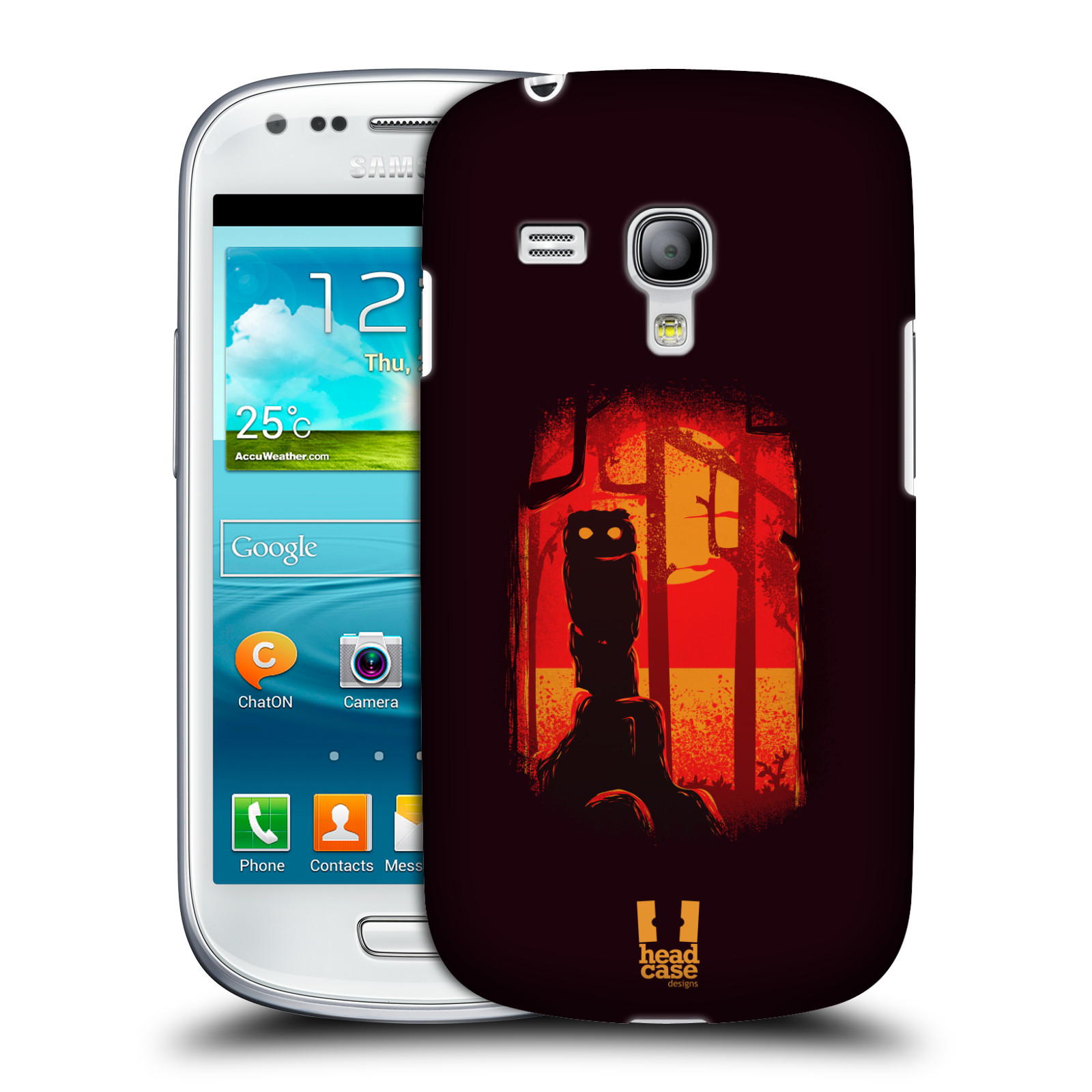 Silikonové pouzdro na mobil Samsung Galaxy S III Mini VE - Head Case - Sova v tajemném lese (Plastový kryt či obal na mobilní telefon s motivem tajemného lesa pro Samsung Galaxy S3 Mini VE GT-i8200)