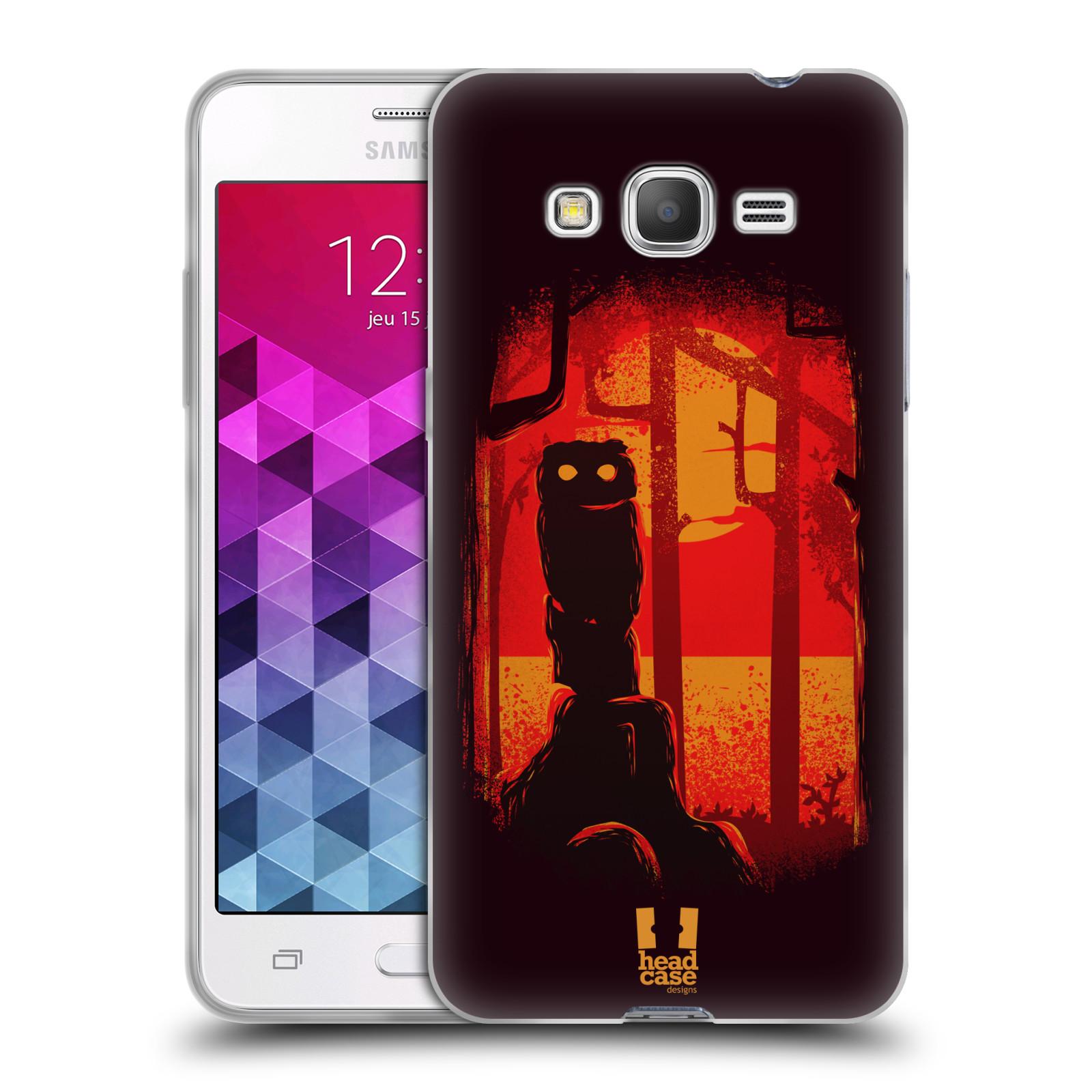 Silikonové pouzdro na mobil Samsung Galaxy Grand Prime VE - Head Case - Sova v tajemném lese