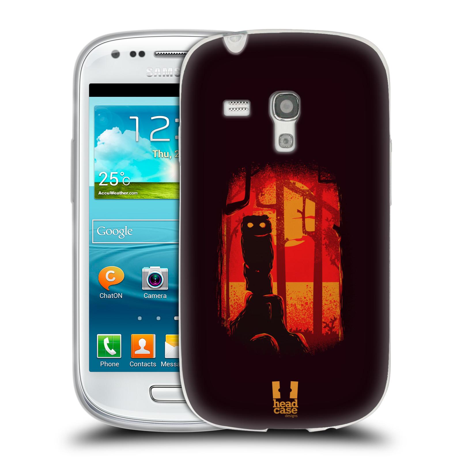Silikonové pouzdro na mobil Samsung Galaxy S3 Mini VE - Head Case - Sova v tajemném lese (Silikonový kryt či obal na mobilní telefon s motivem tajemného lesa pro Samsung Galaxy S3 Mini VE GT-i8200)