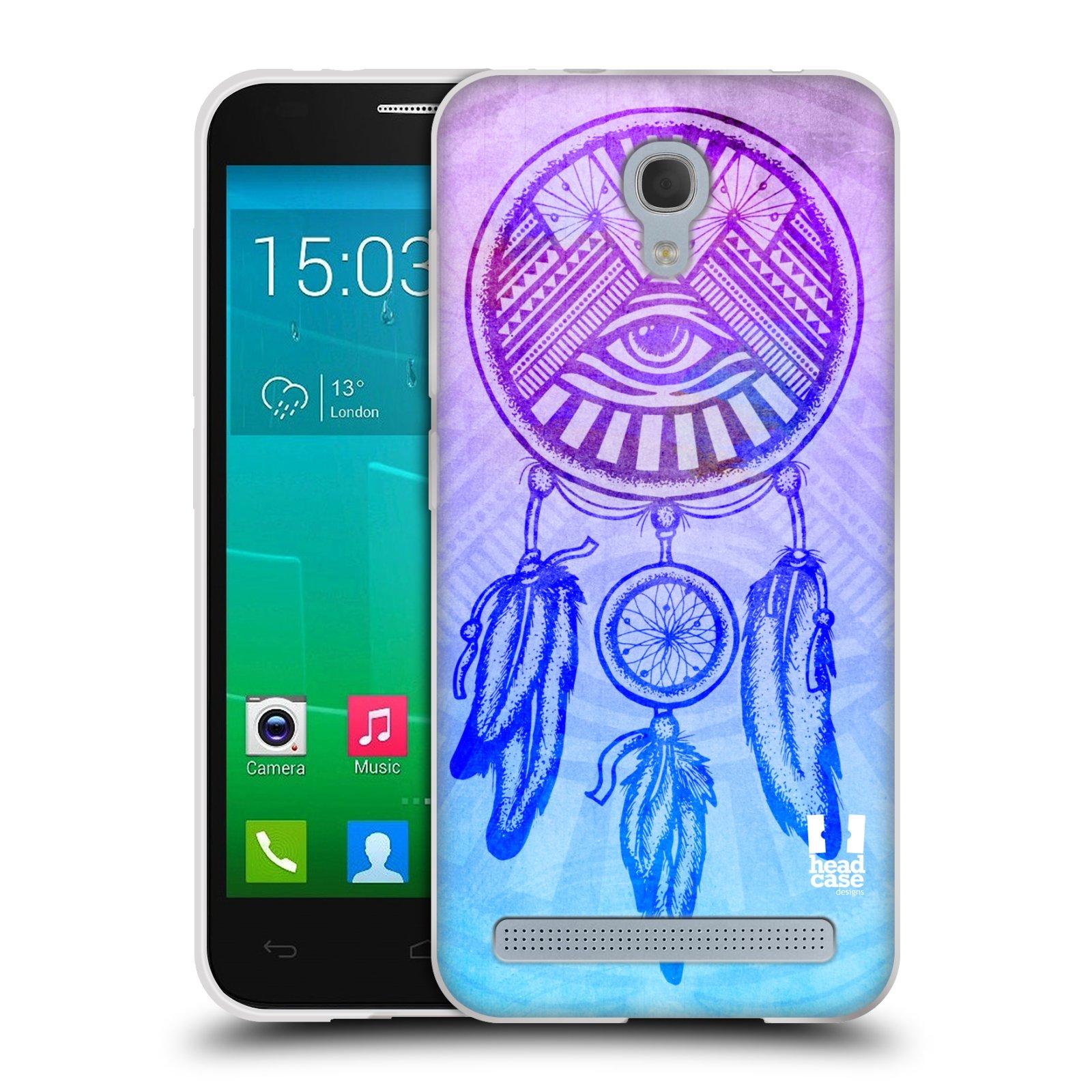 Silikonové pouzdro na mobil Alcatel One Touch Idol 2 Mini S 6036Y HEAD CASE Lapač s okem (Silikonový kryt či obal na mobilní telefon Alcatel Idol 2 Mini S OT-6036Y)