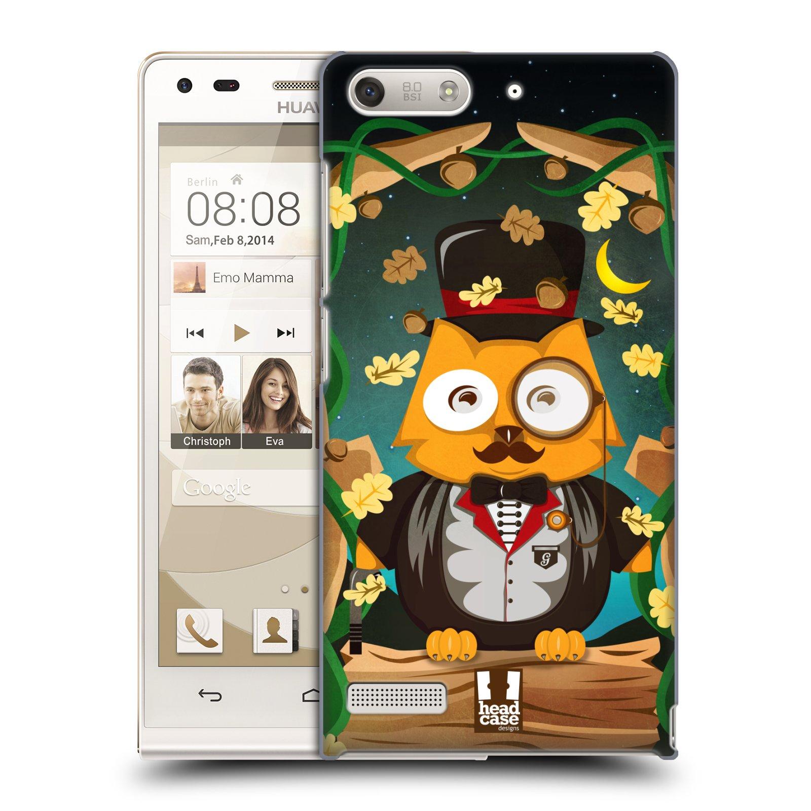 Plastové pouzdro na mobil Huawei Ascend G6 HEAD CASE SOVA GENTLEMAN (Kryt či obal na mobilní telefon Huawei Ascend G6 bez LTE)