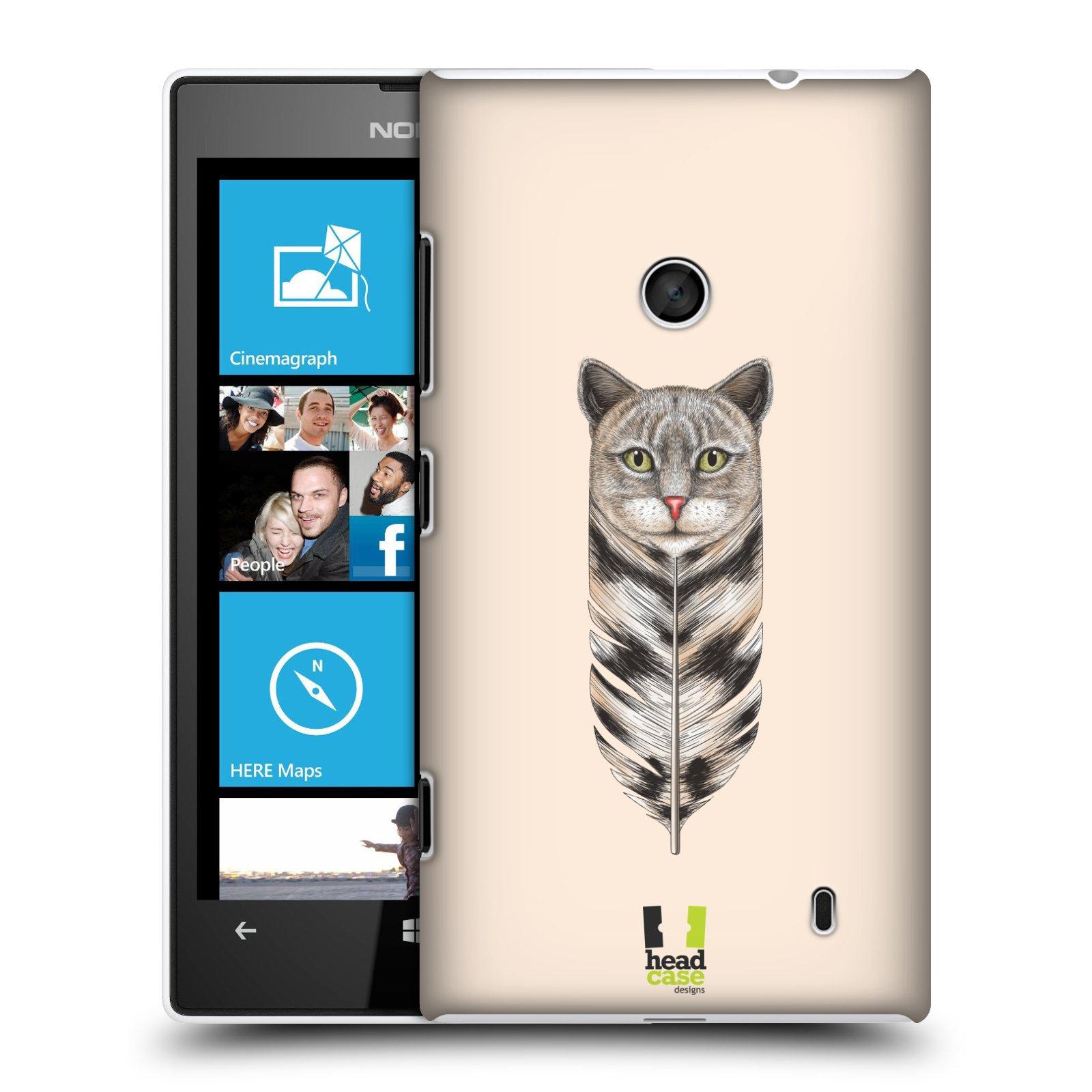 Plastové pouzdro na mobil Nokia Lumia 520 HEAD CASE PÍRKO KOČKA (Kryt či obal na mobilní telefon Nokia Lumia 520 )
