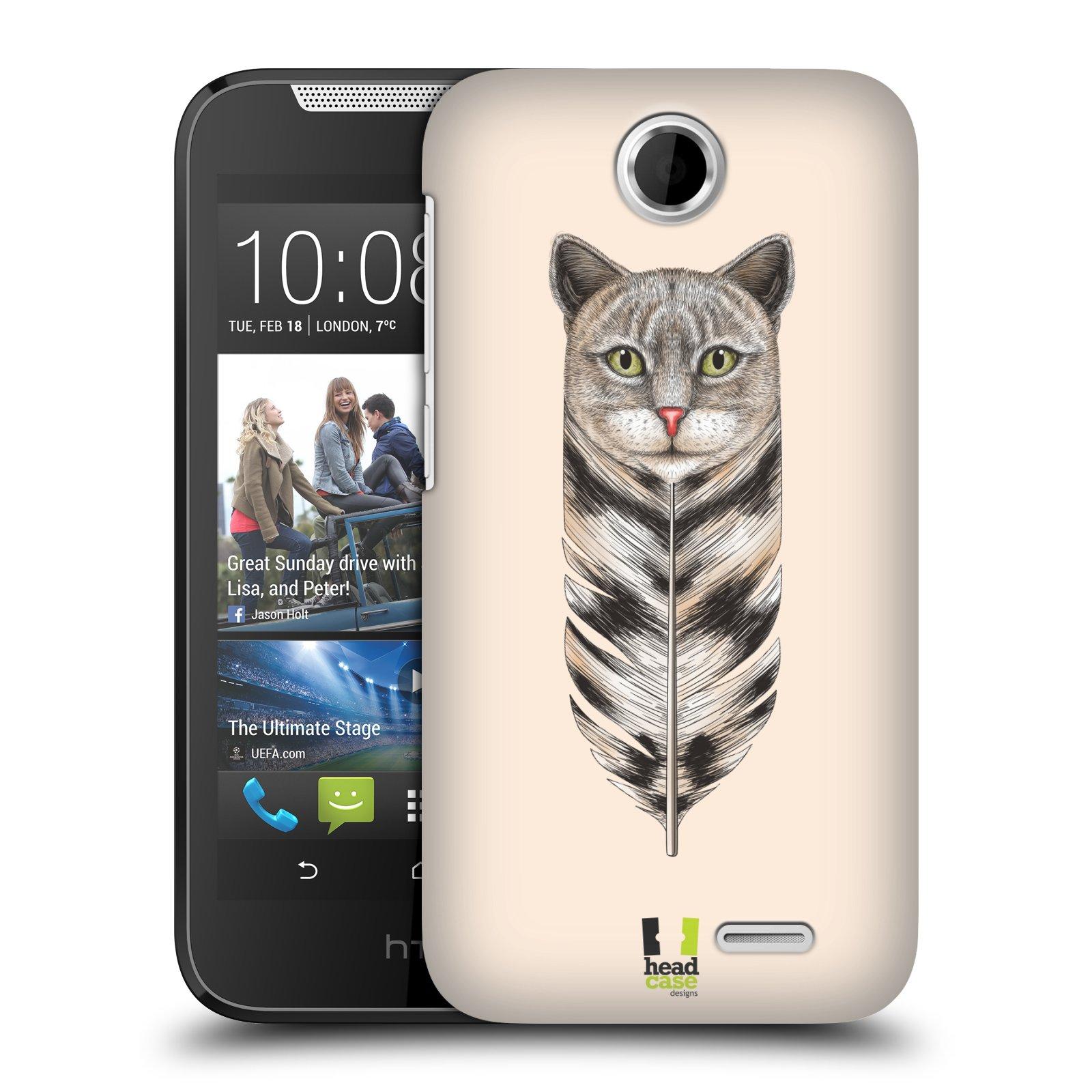 Plastové pouzdro na mobil HTC Desire 310 HEAD CASE PÍRKO KOČKA (Kryt či obal na mobilní telefon HTC Desire 310)